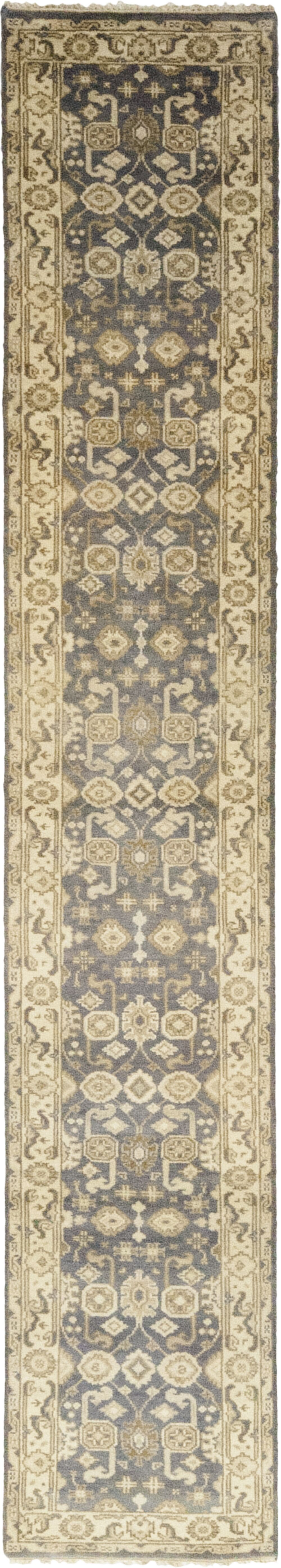 One-of-a-Kind Corrado Hand-Knotted Wool Beige/Gray Indoor Area Rug