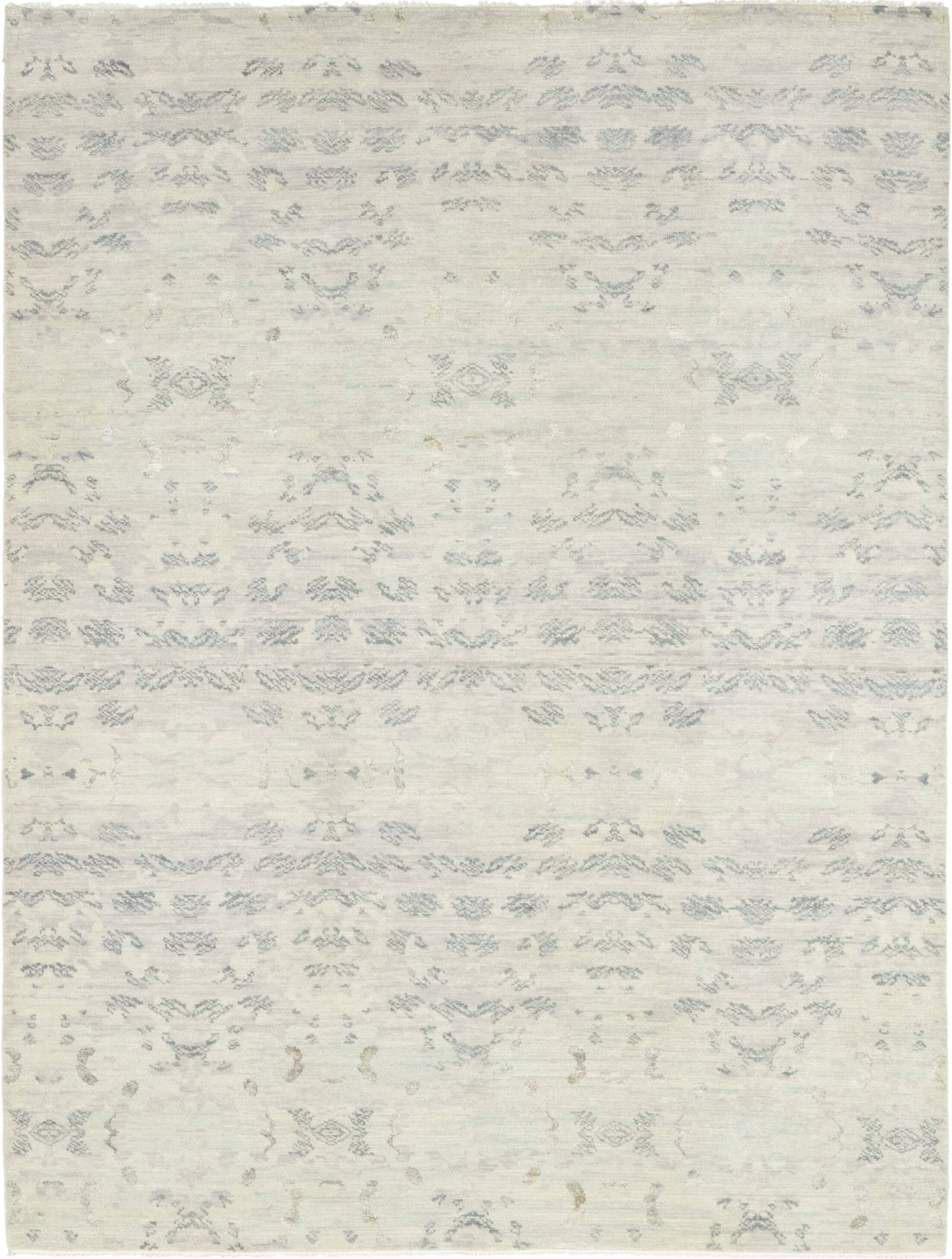 One-of-a-Kind Mullett Hand-Knotted Wool Gray Indoor Area Rug
