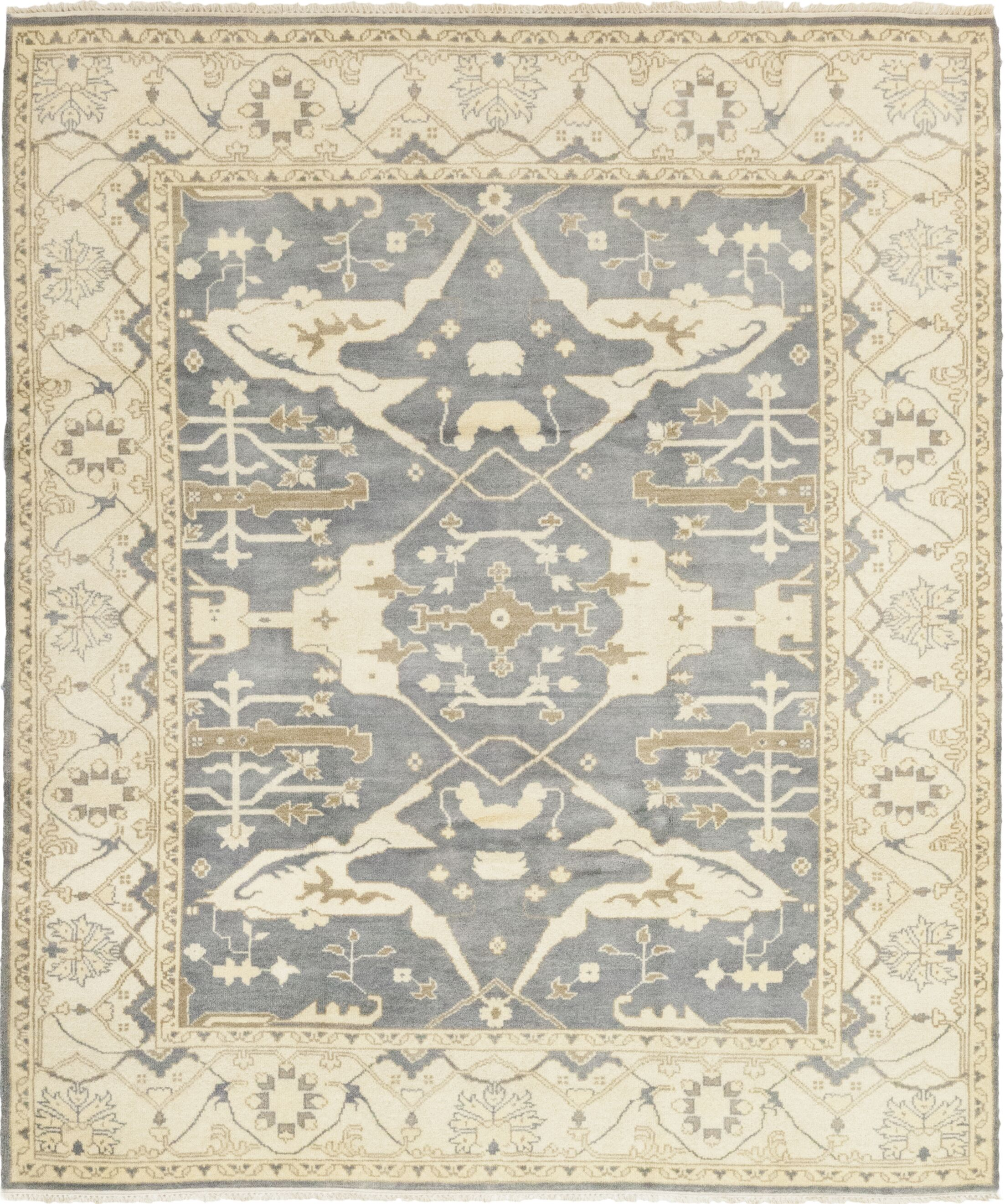 One-of-a-Kind Dionne Hand-Knotted Wool Gray/Beige Indoor Area Rug