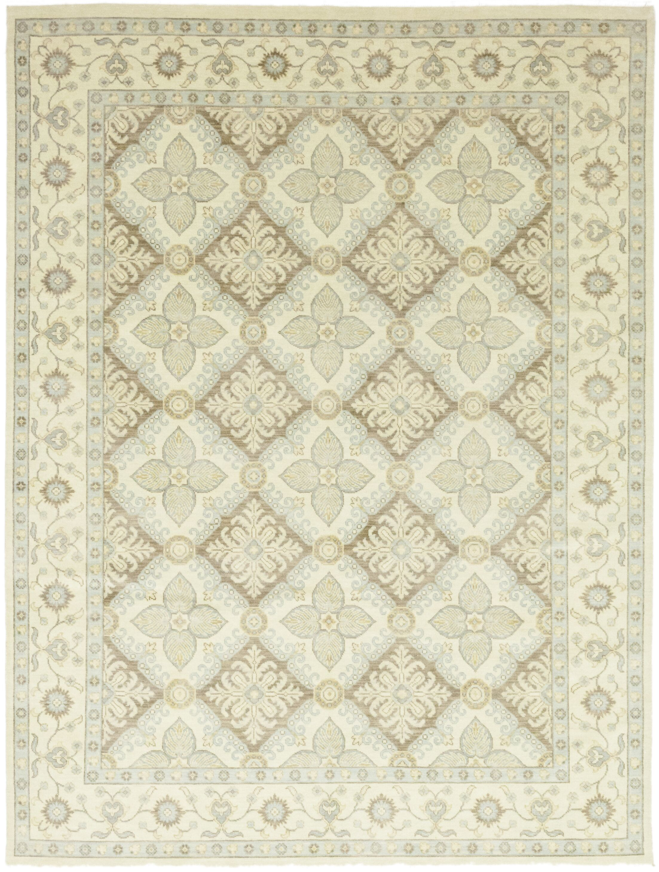 One-of-a-Kind Volane Hand-Knotted Wool Beige Indoor Area Rug