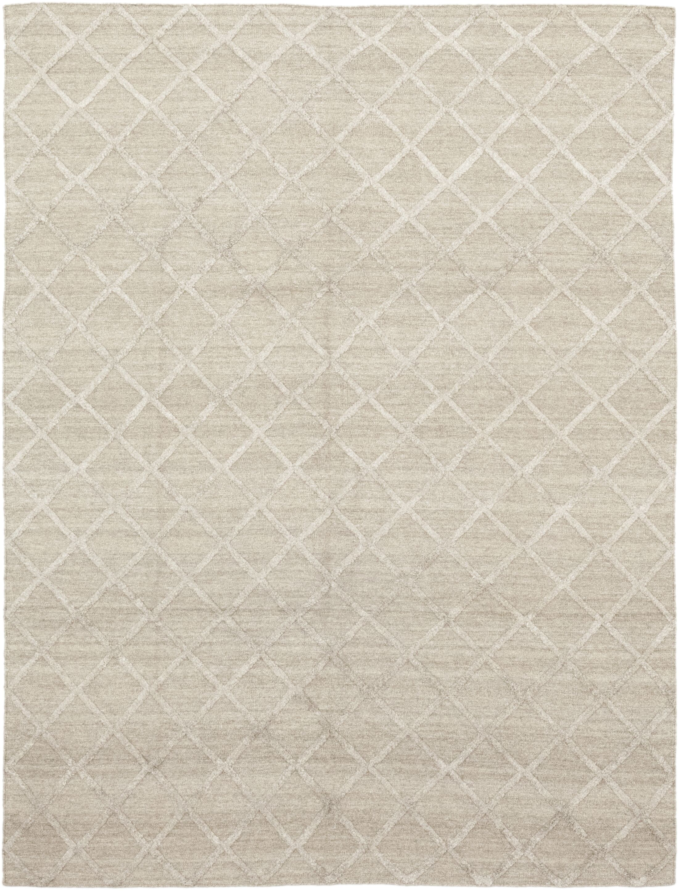 One-of-a-Kind Montsegur Hand-Knotted Wool Beige Indoor Area Rug