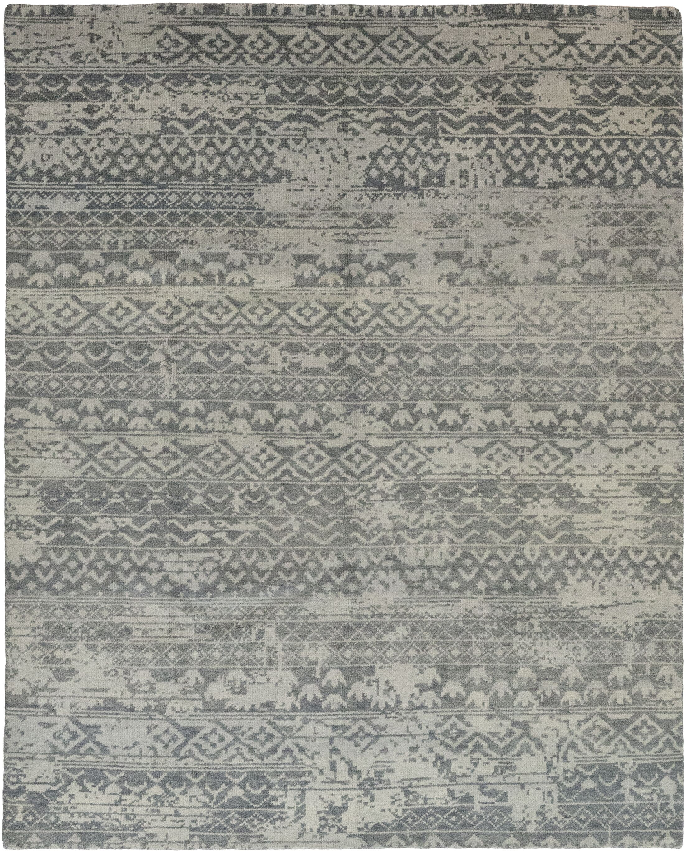 One-of-a-Kind Donahue Hand-Knotted Wool Gray Indoor Area Rug