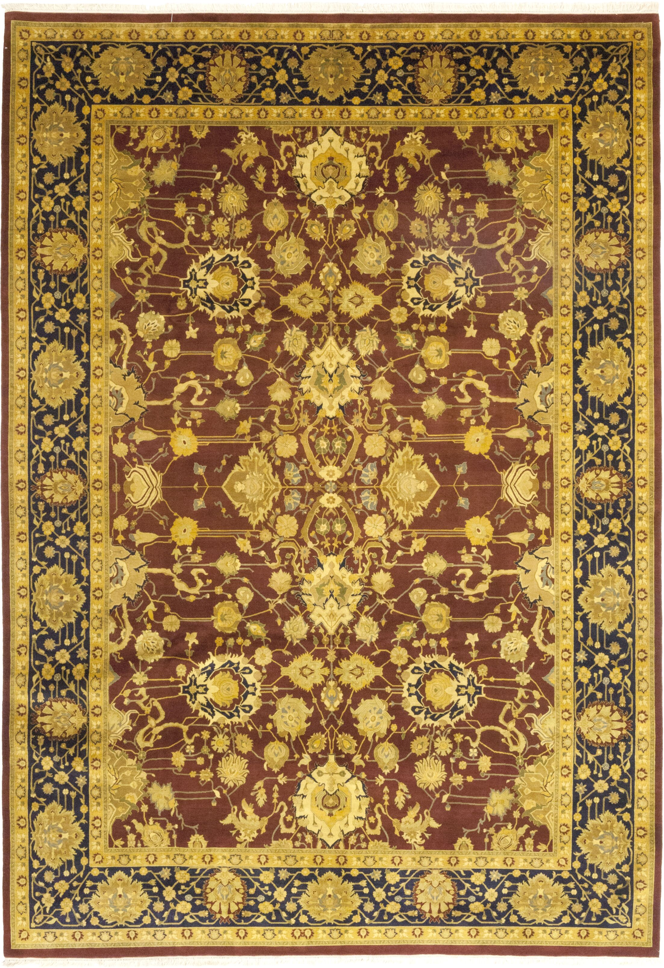 One-of-a-Kind Corrado Hand-Knotted Wool Brown/Gold Indoor Area Rug