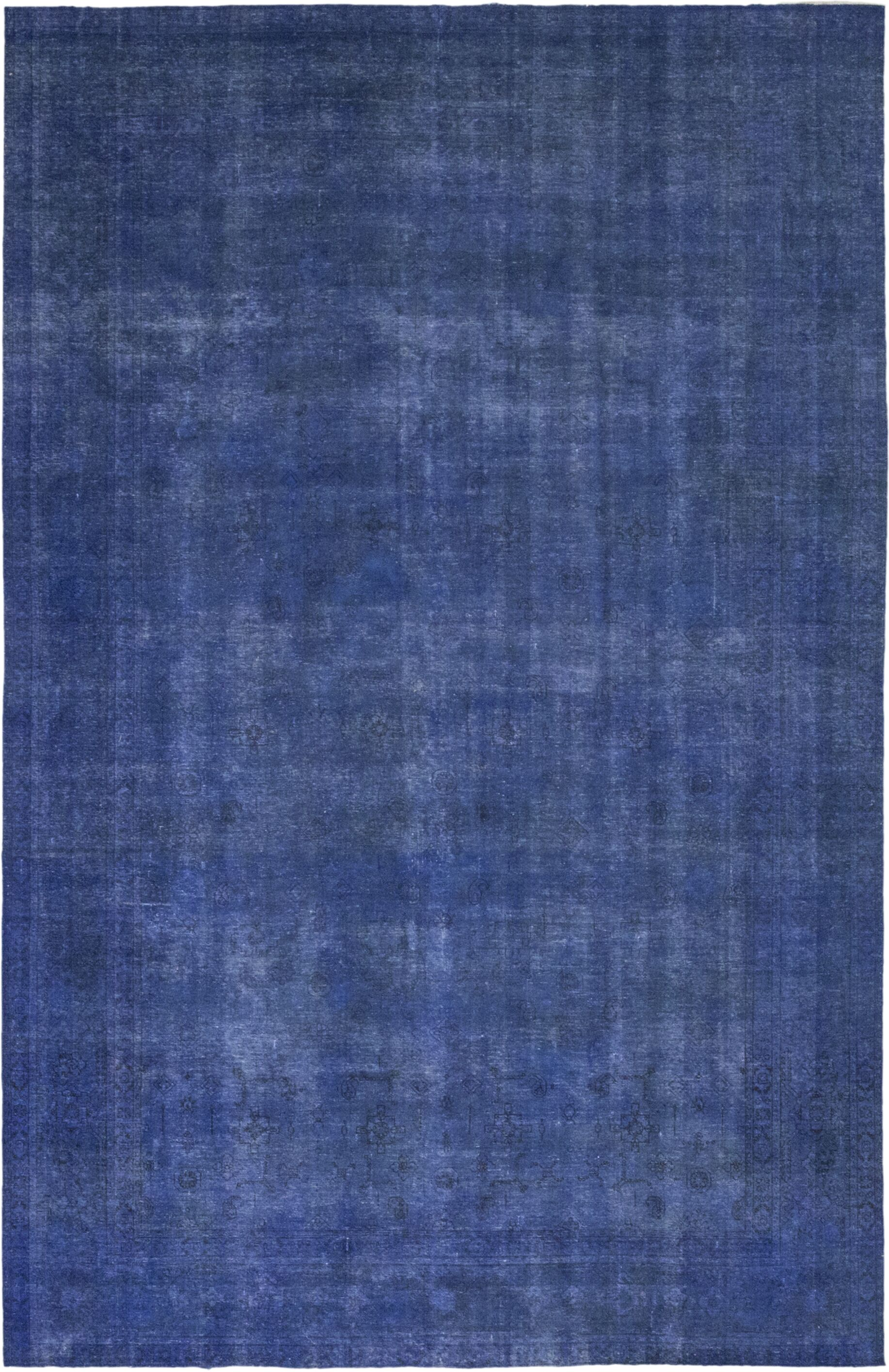 One-of-a-Kind Khatri Hand-Knotted Wool Blue Indoor Area Rug
