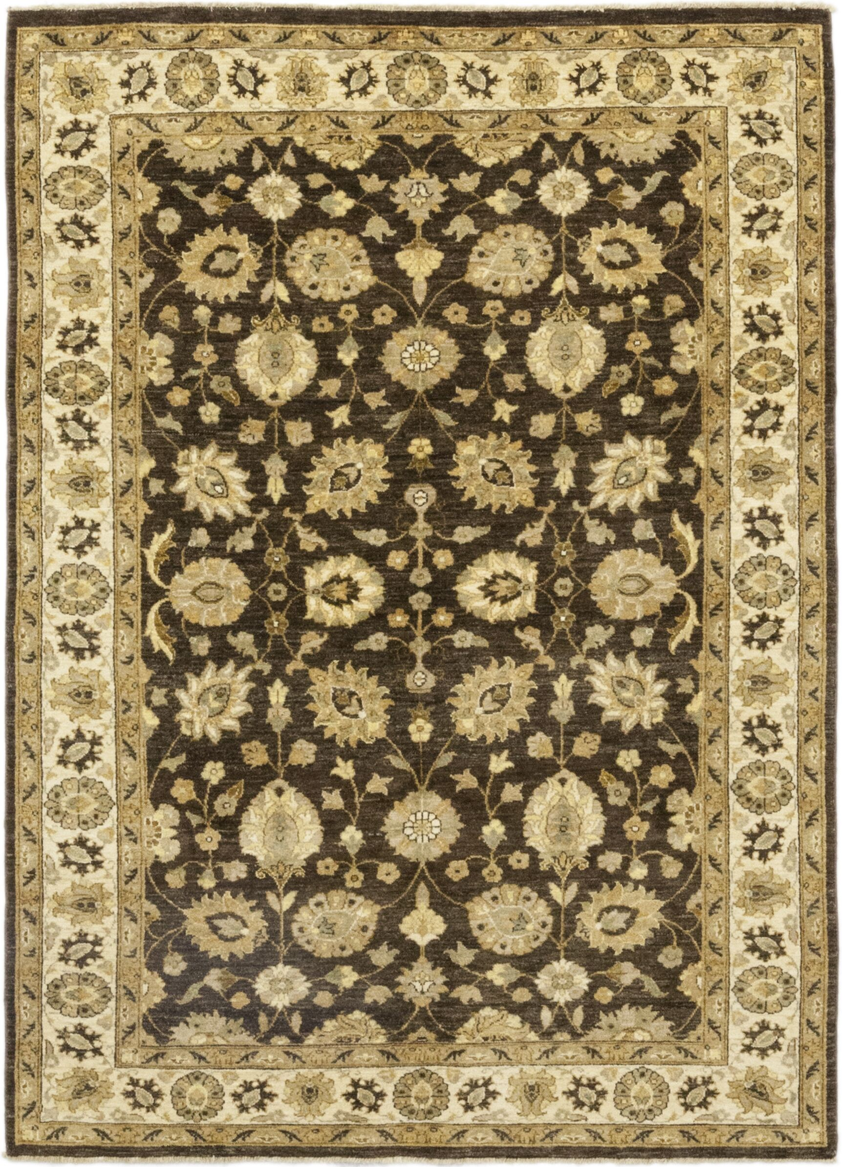 One-of-a-Kind Dionne Hand-Knotted Wool Brown/Beige Indoor Area Rug