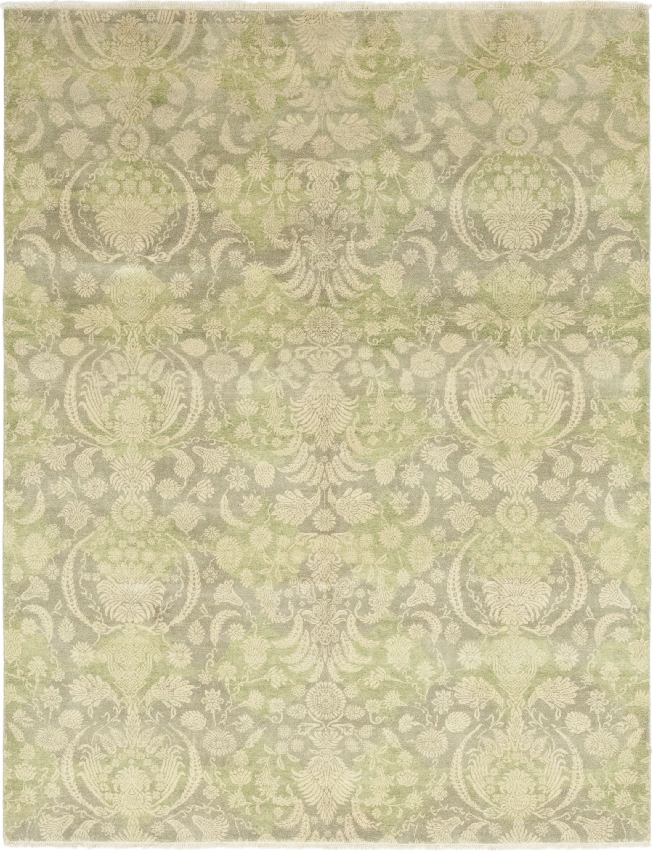 One-of-a-Kind Hamedi Hand-Knotted Wool Beige Indoor Area Rug