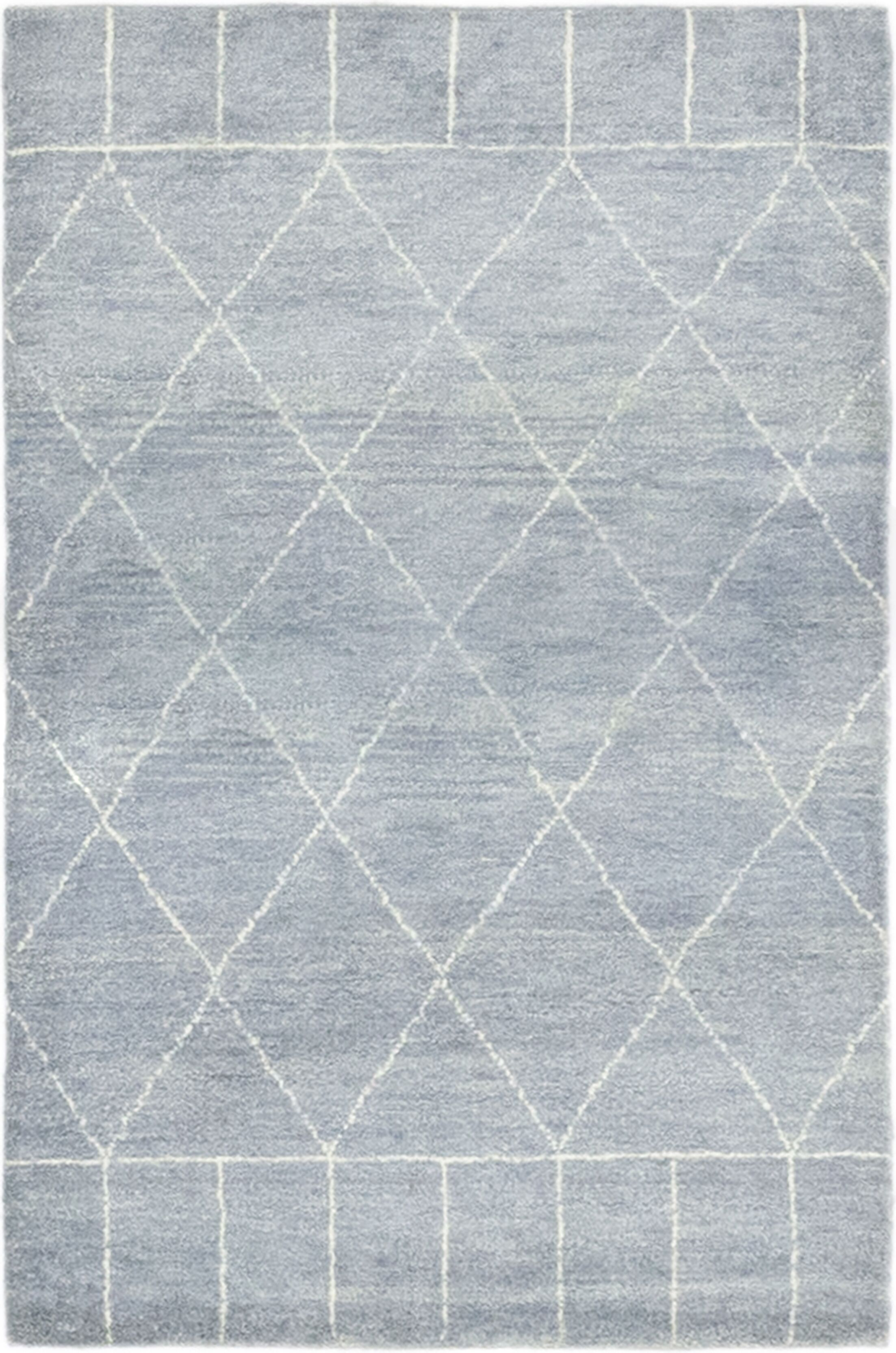 One-of-a-Kind Chelmsford Hand-Knotted Wool Blue Indoor Area Rug