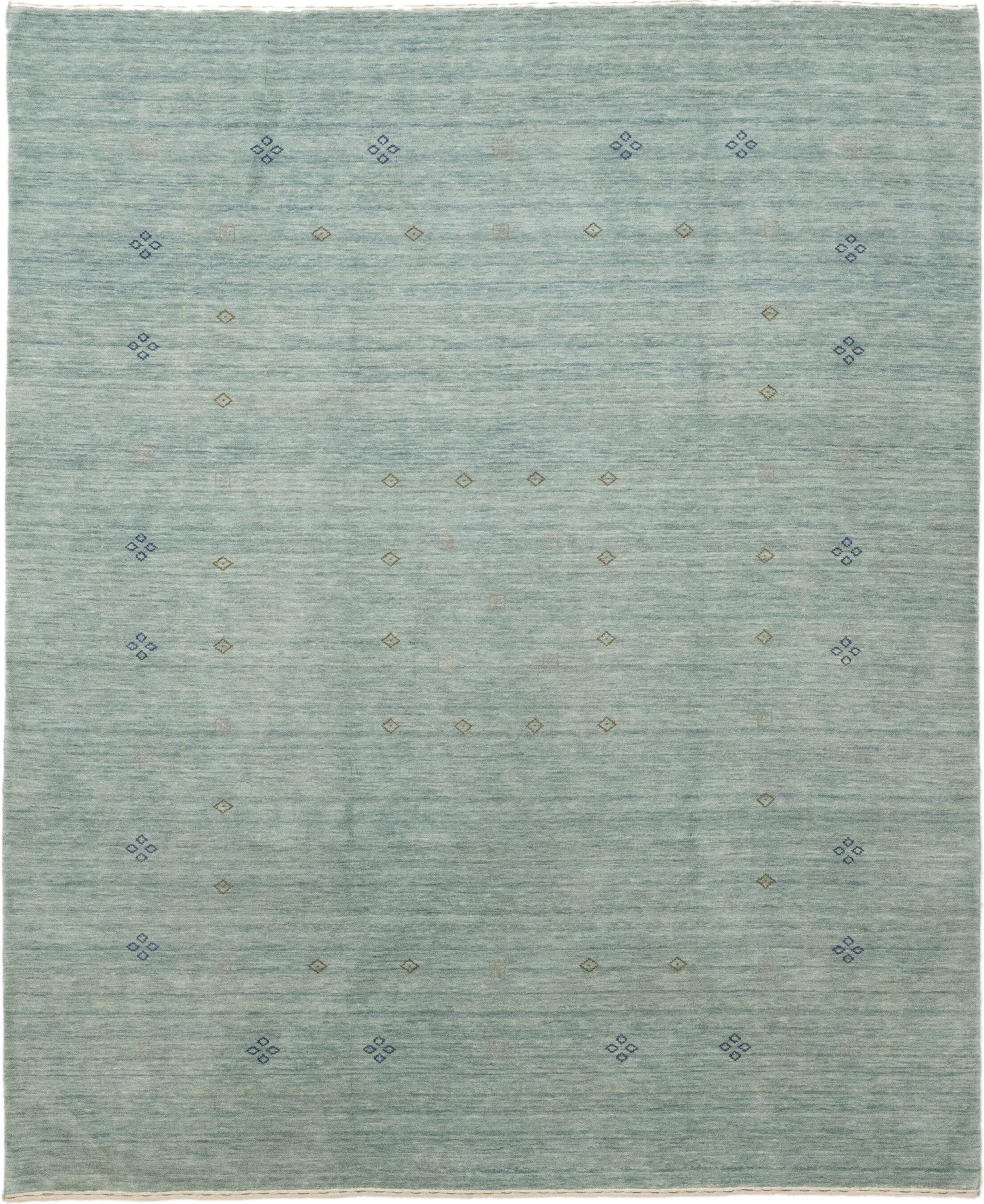 One-of-a-Kind Matahpi Hand-Knotted Wool Blue Indoor Area Rug