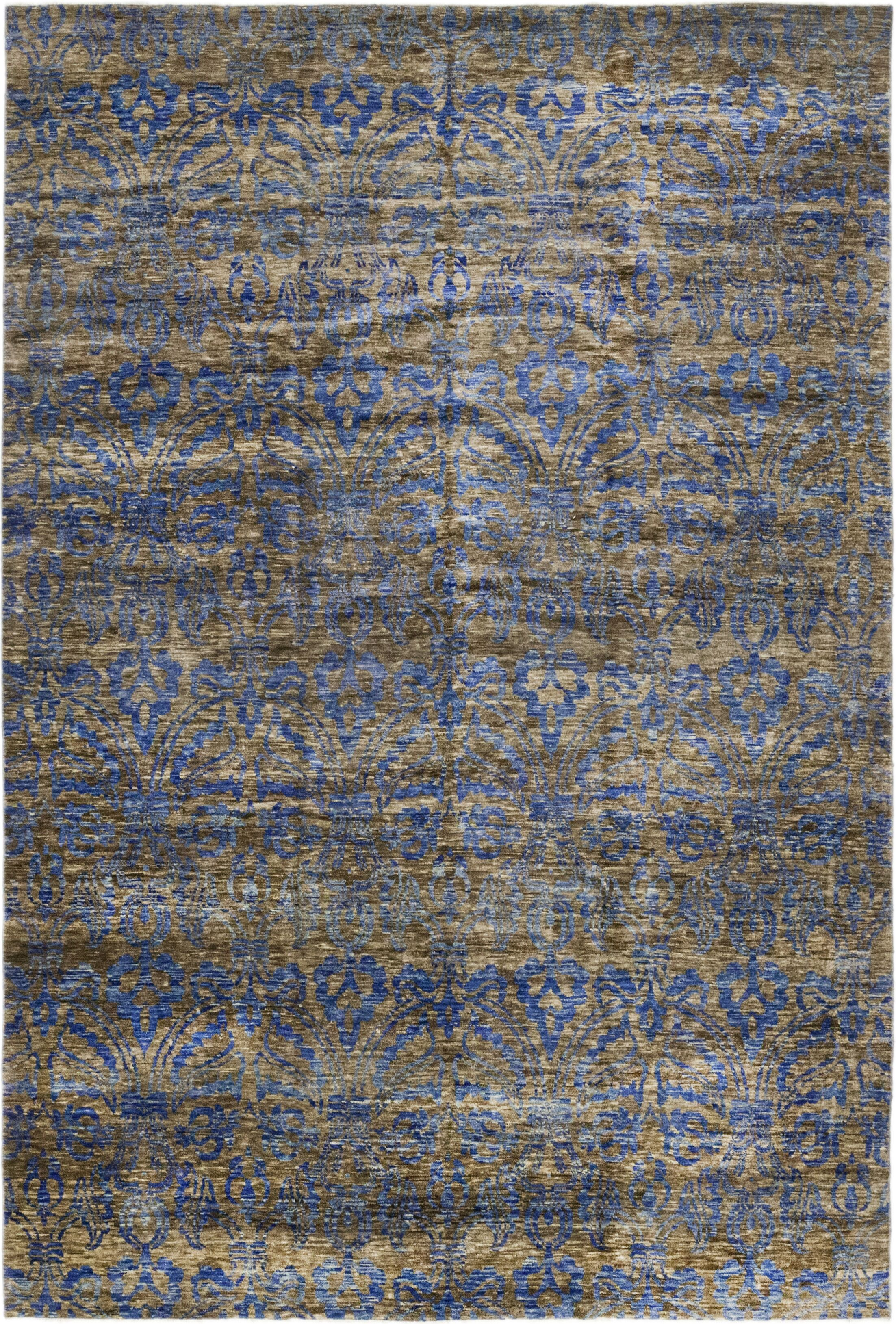 One-of-a-Kind Marcucci Hand-Knotted Wool Gray/Blue Indoor Area Rug