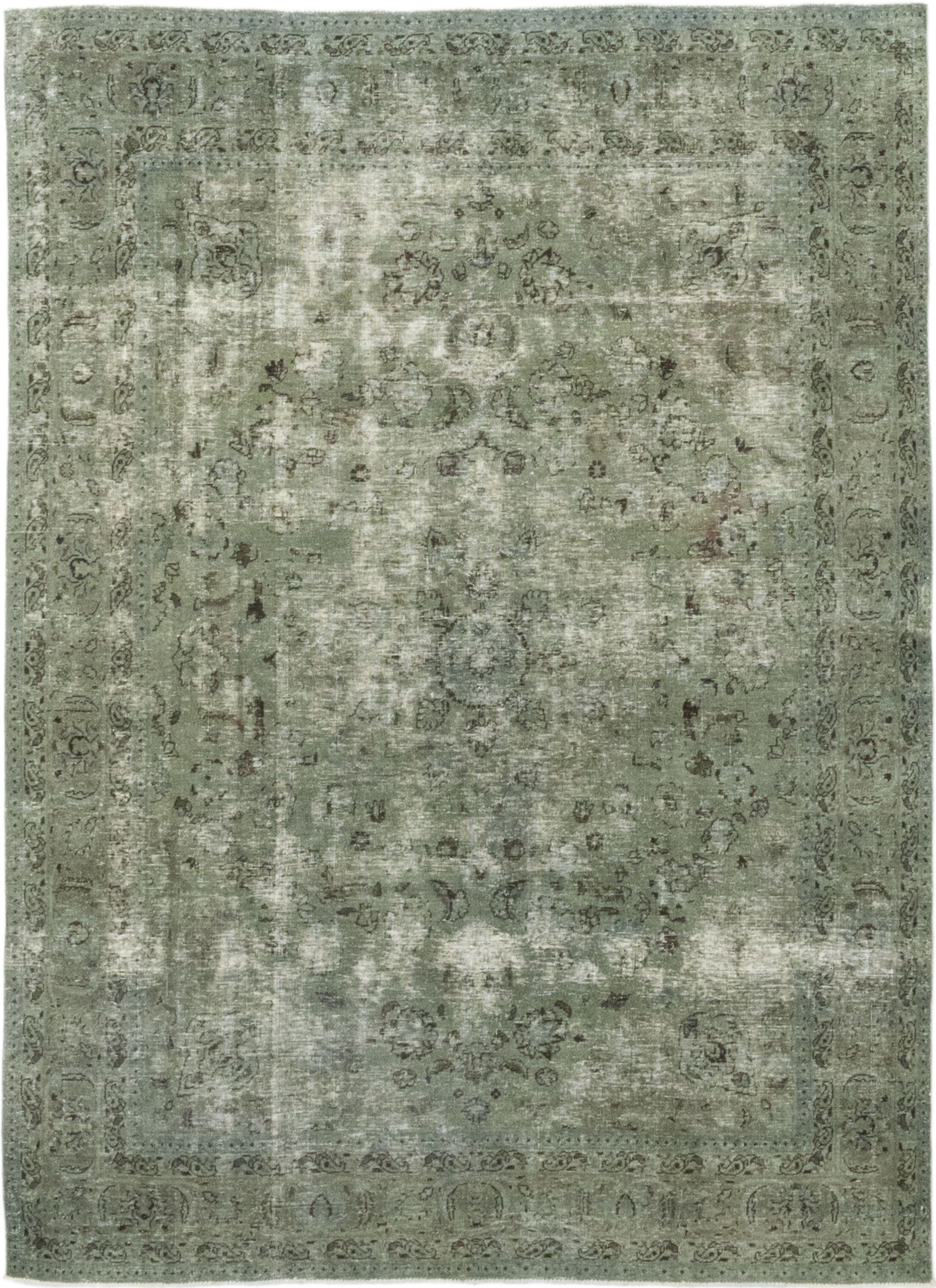One-of-a-Kind Spangenberger Hand-Knotted Wool Green Indoor Area Rug