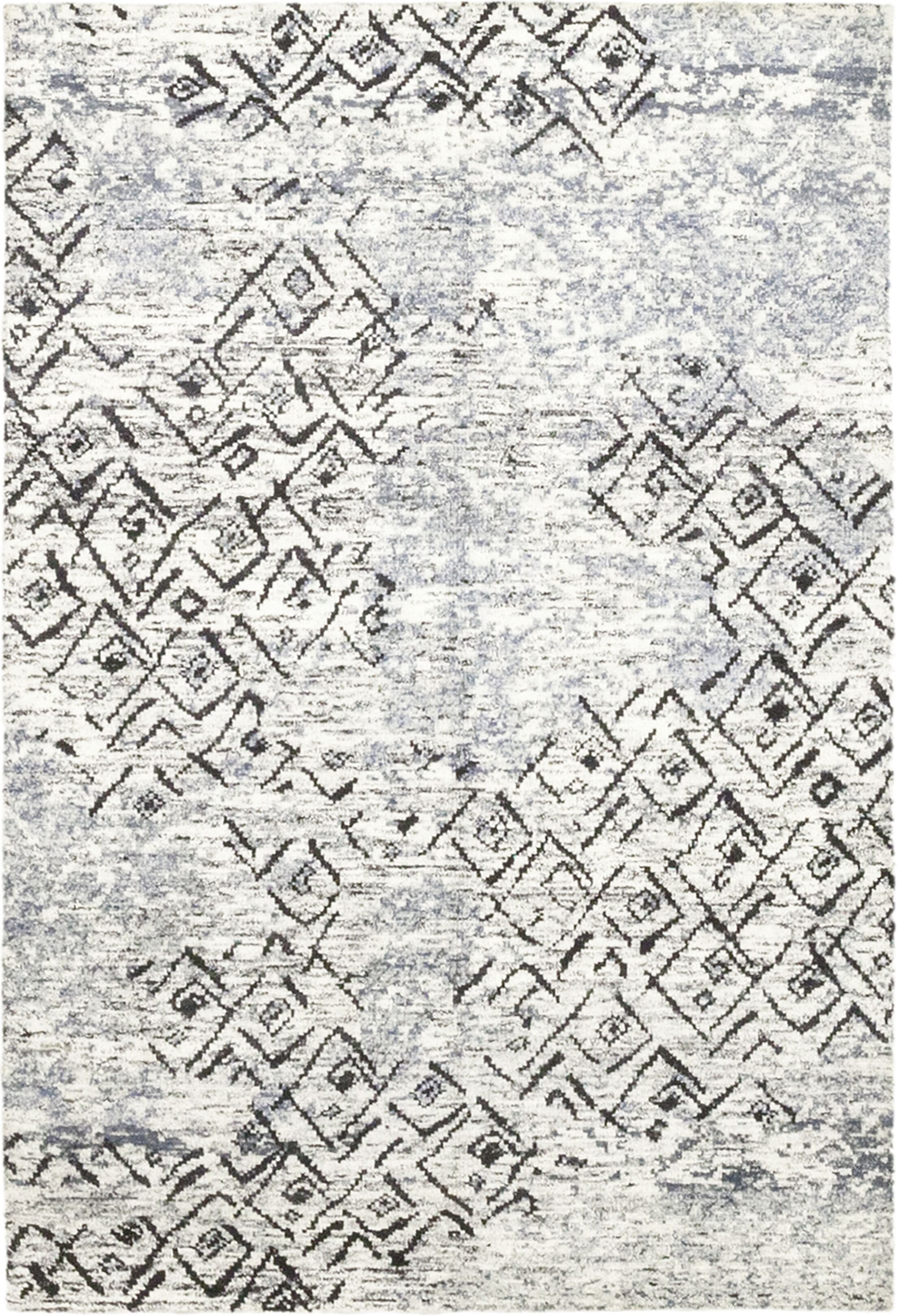 One-of-a-Kind Donovan Hand-Knotted Wool Blue Indoor Area Rug