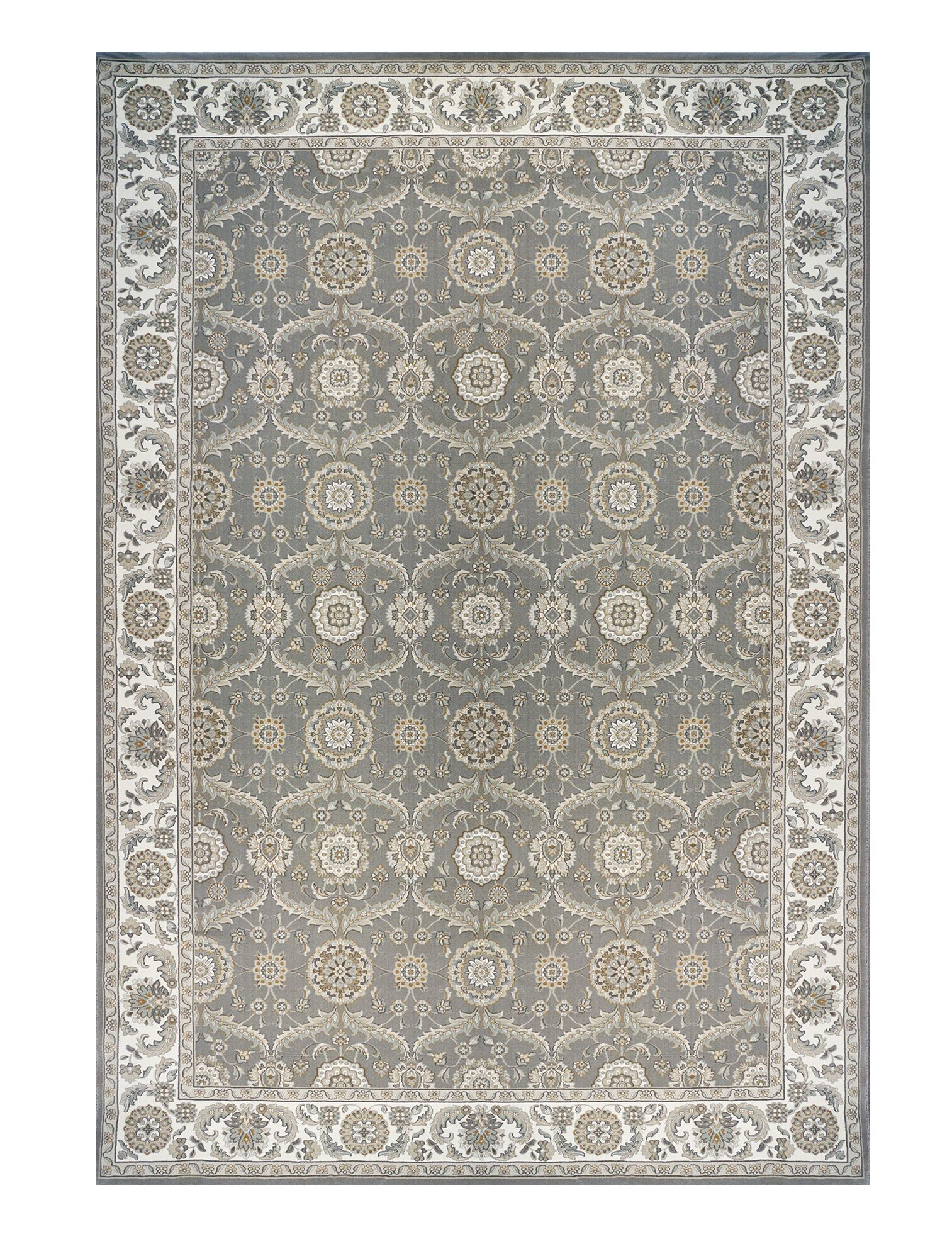 Yerby Gray Area Rug Rug Size: 6'6
