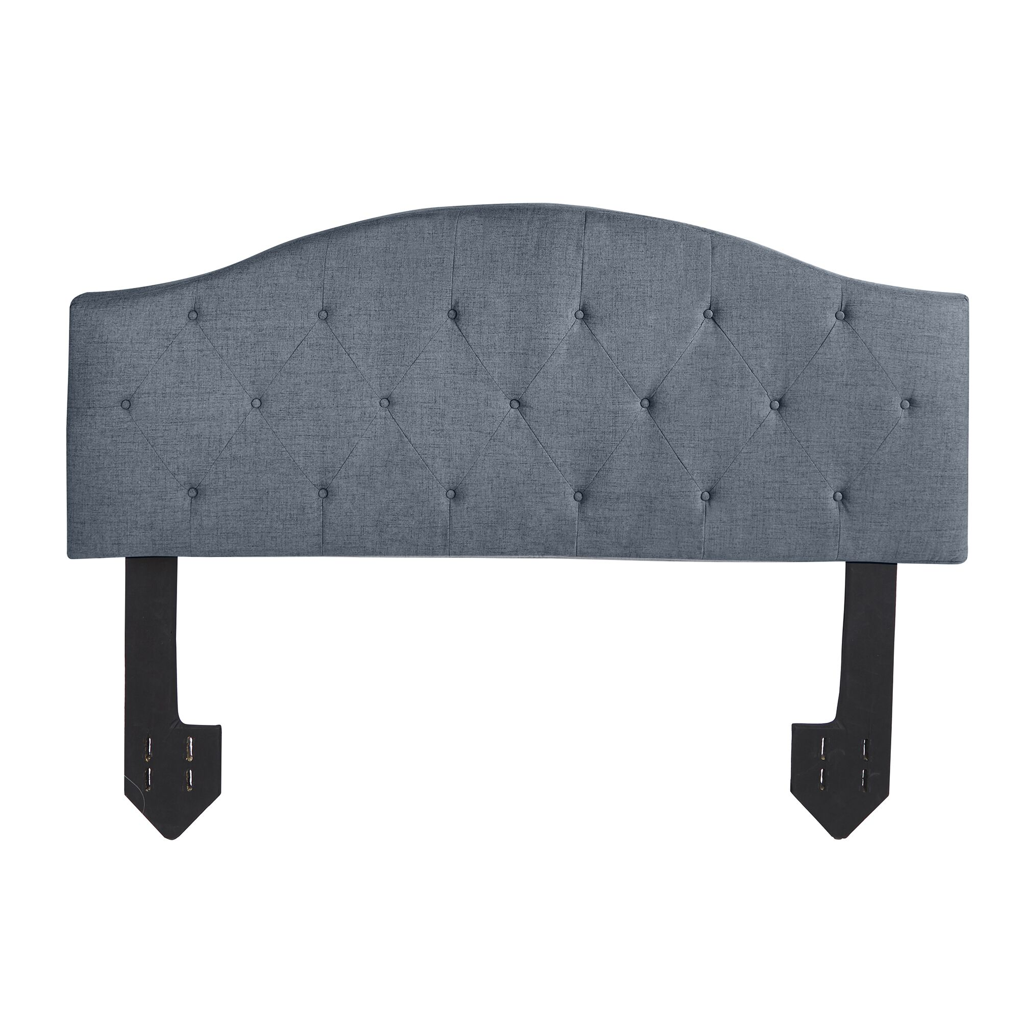Cheval Tufted Powered Upholstered Panel Headboard Upholstery: Dark Gray, Size: King
