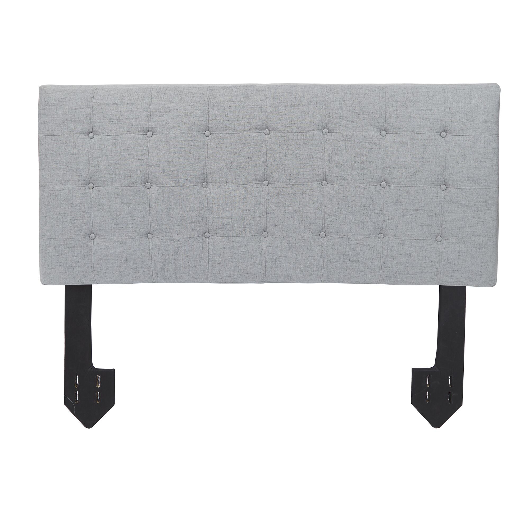 Dartmoor Tufted Powered Upholstered Panel Headboard Upholstery: Light Gray, Size: Queen