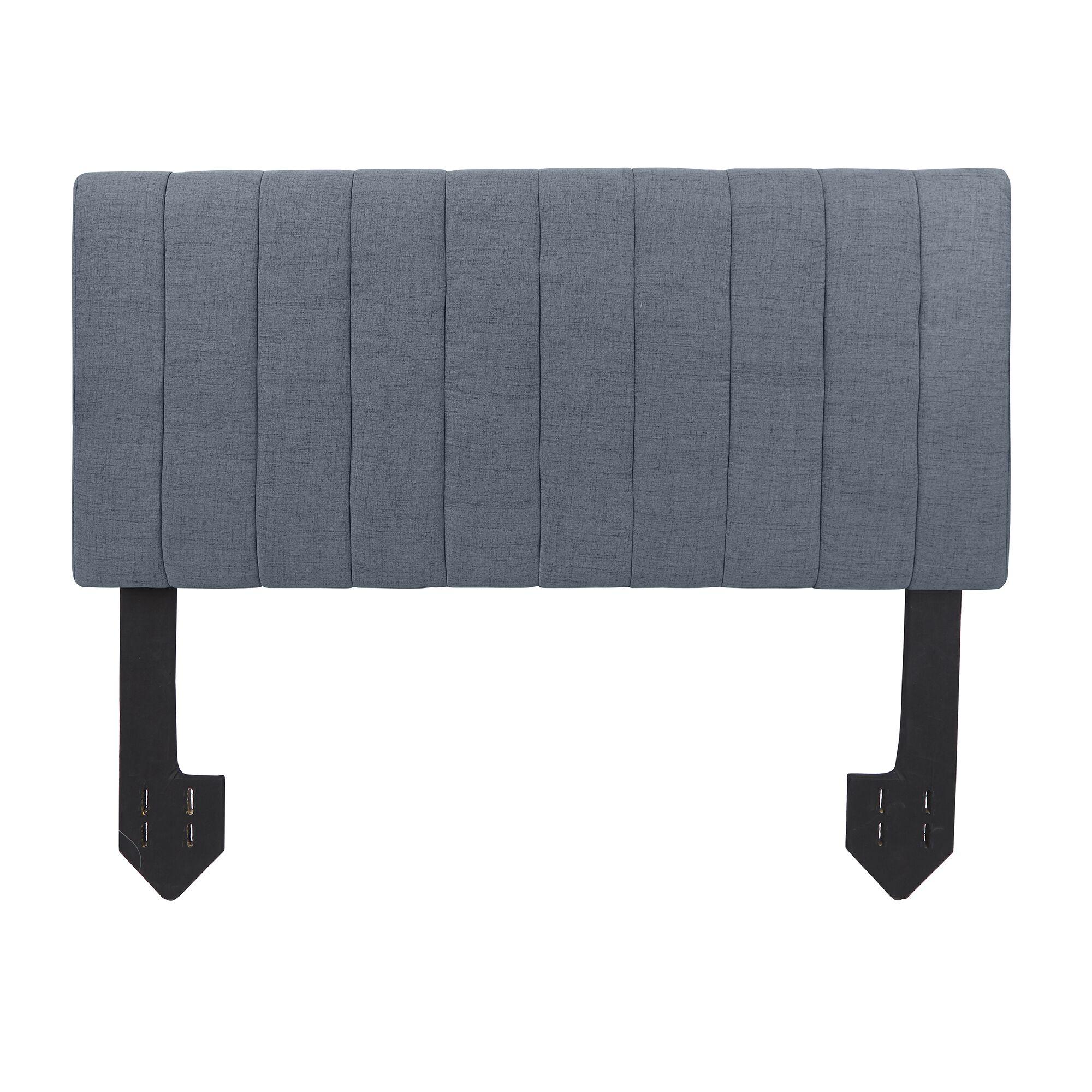 Hofstetter Tufted Powered Upholstered Panel Headboard Upholstery: Dark Gray, Size: Queen