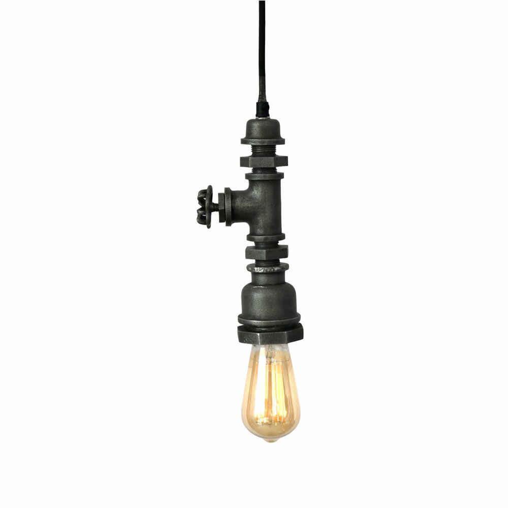 Catriona Industrial 1-Light Bulb Pendant