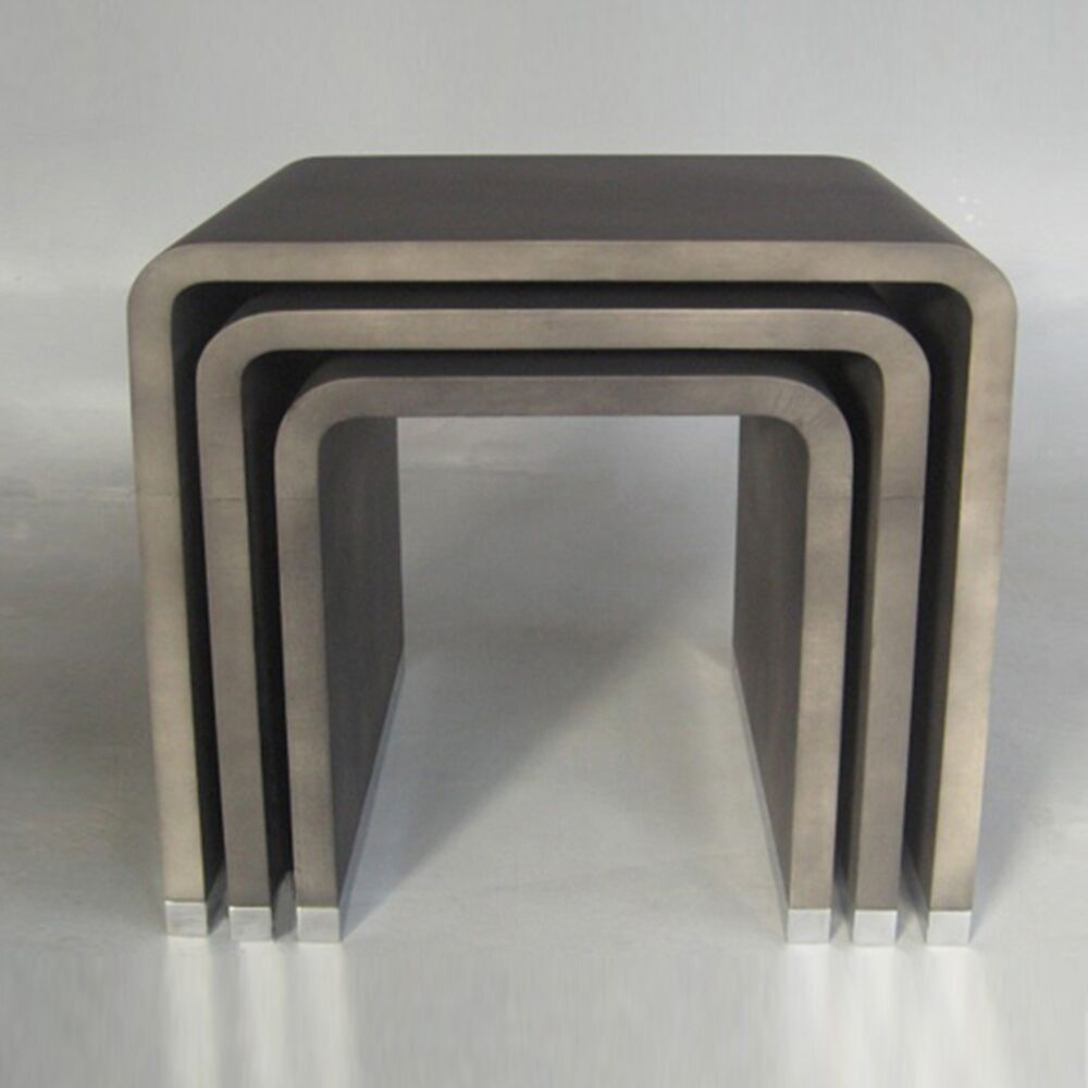 3 Piece Nesting Tables Color: Ant Hive - Black