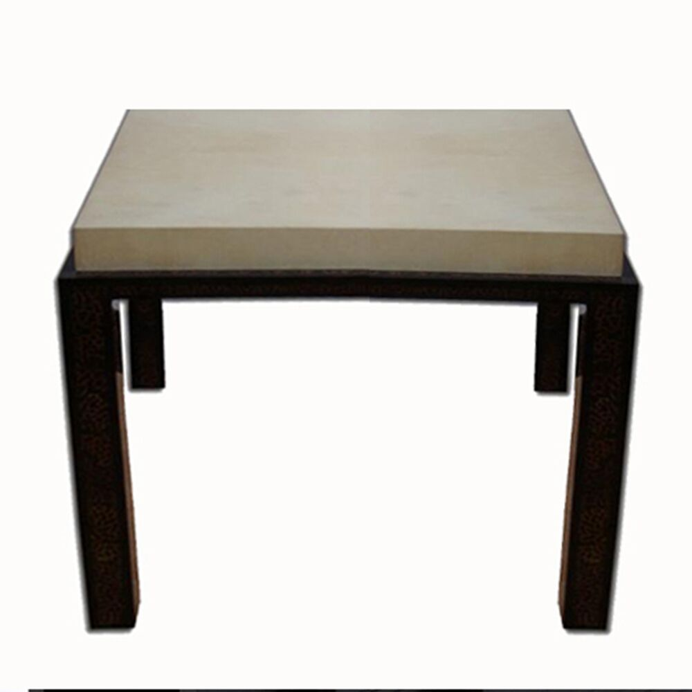 Parchment End Table Color: Parchment - Gray Marbled