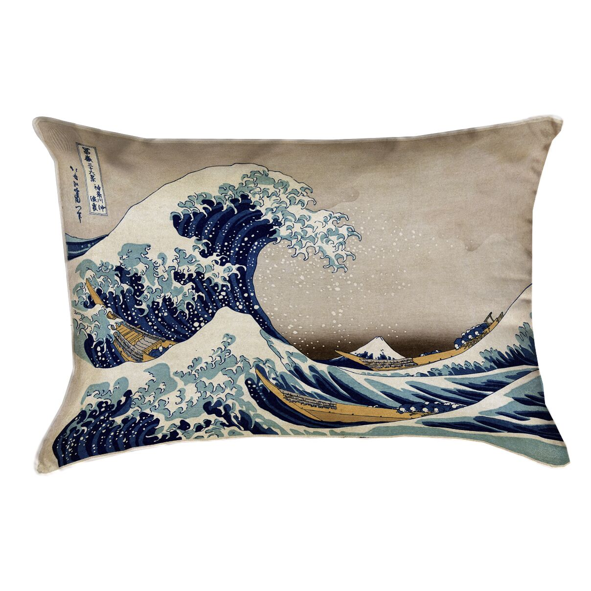 Raritan The Great Wave Lumbar Pillow Color: Blue