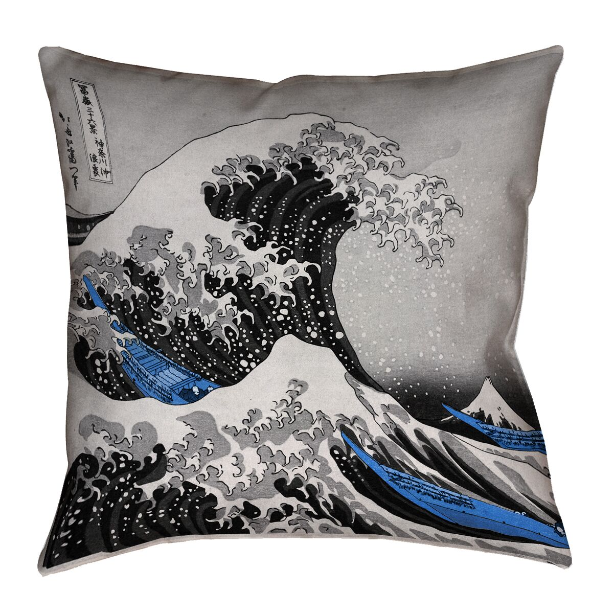 Raritan The Great Wave Square Outdoor Waterproof Throw Pillow Size: 20