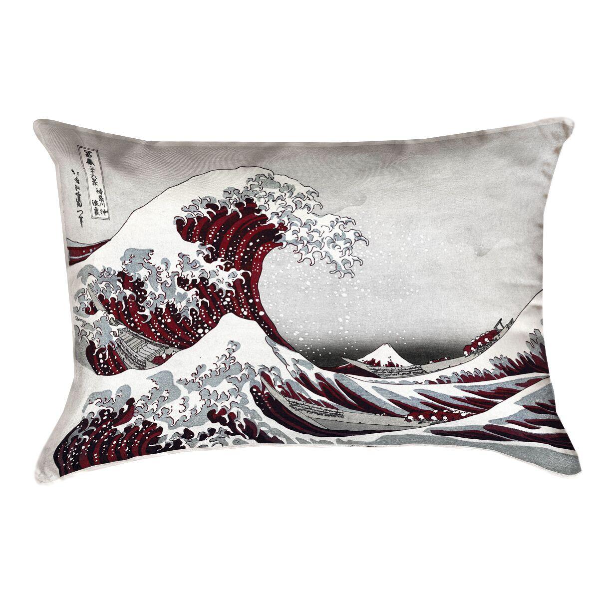 Raritan The Great Wave Linen Lumbar Pillow Color: Brown