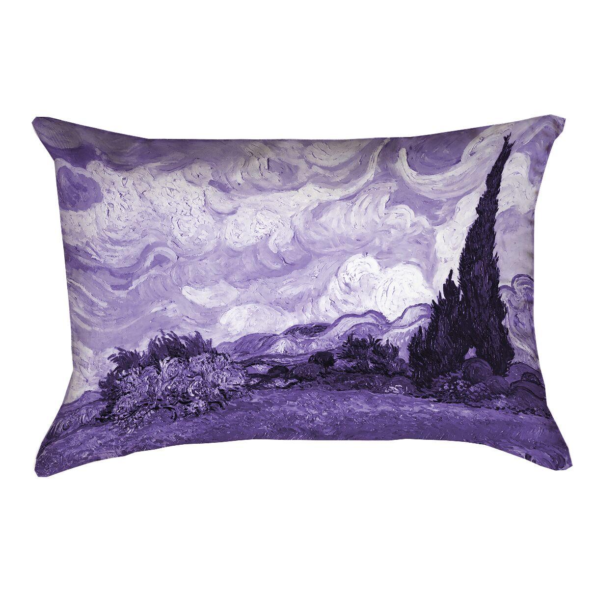 Bristol Woods Lumbar Pillow Color: Purple