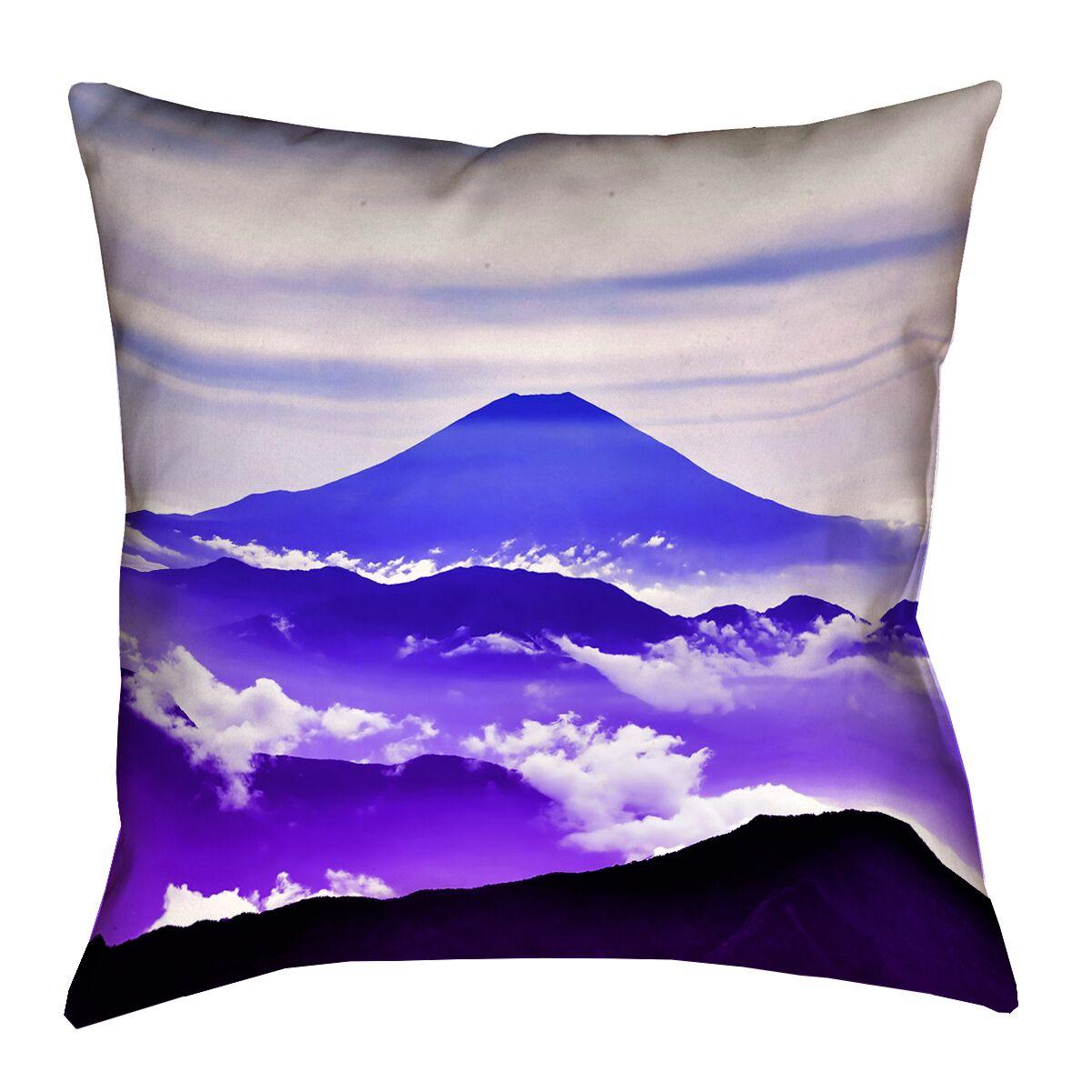Hansard Fuji Linen Lumbar Pillow Color: Blue/Purple