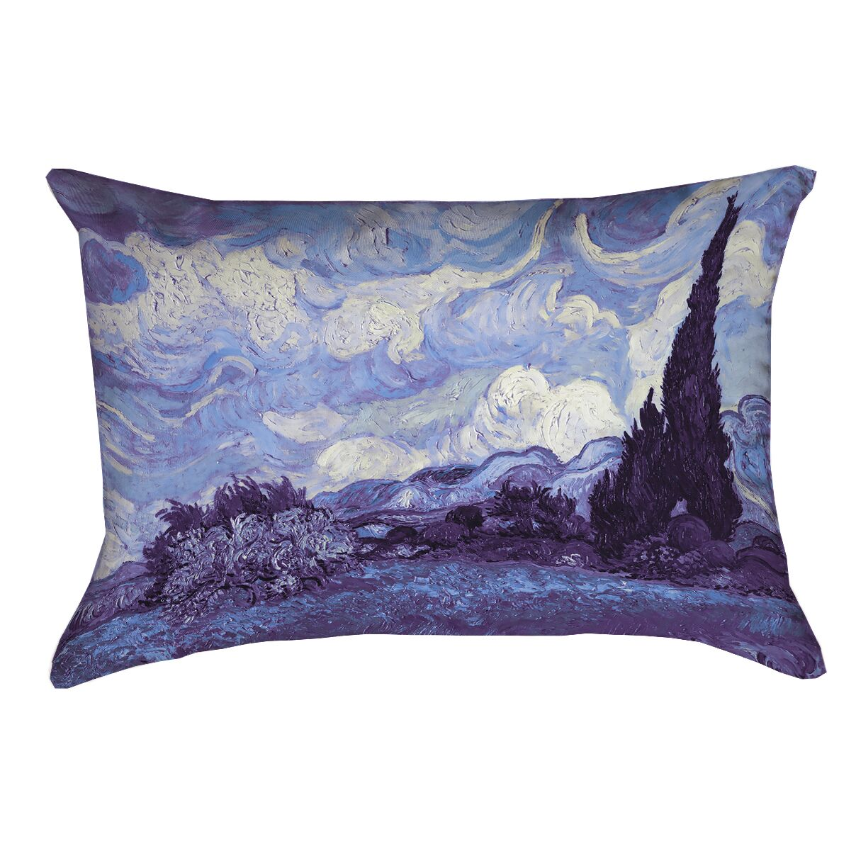 Morley Wheat Field with Cypresses Lumbar Pillow