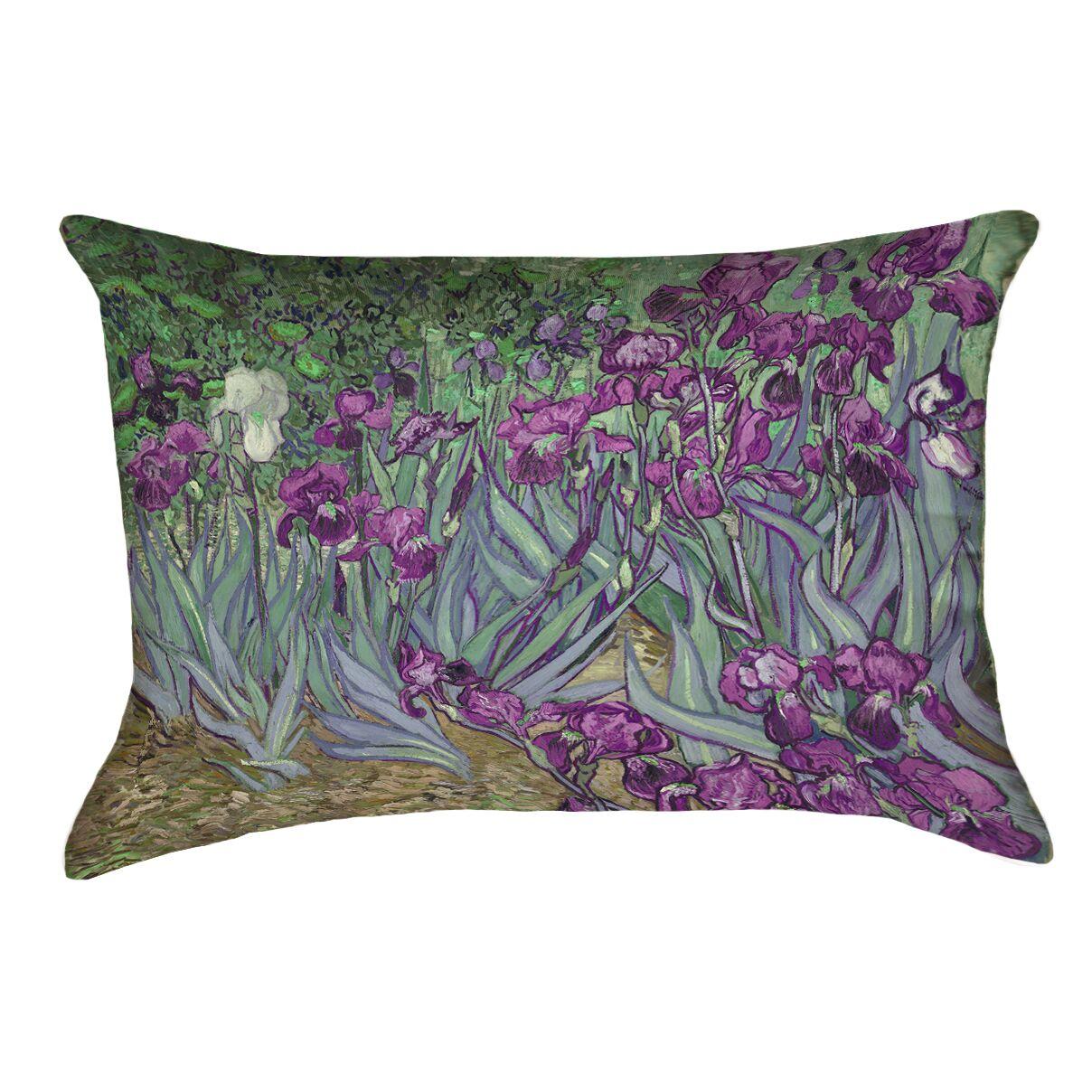 Morley Irises Indoor/Outdoor Lumbar Pillow Color: Pink/Green
