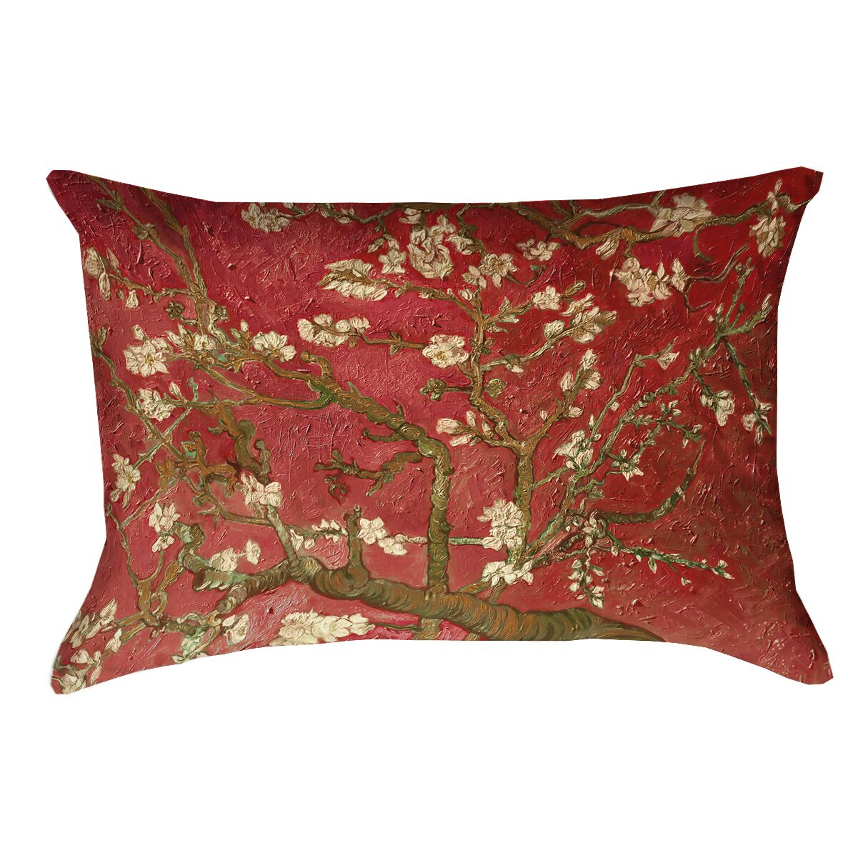 Lei Almond Blossom Double Sided Print Lumbar Pillow Color: Orange