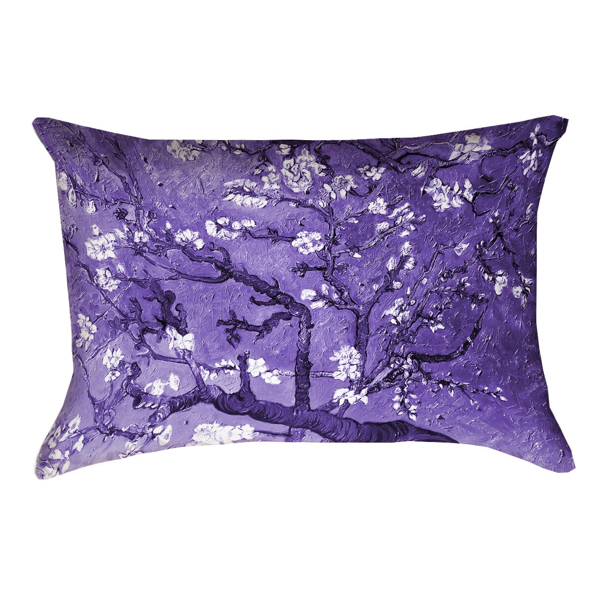 Lei Almond Blossom Pillow Cover with Zipper Color: Purple