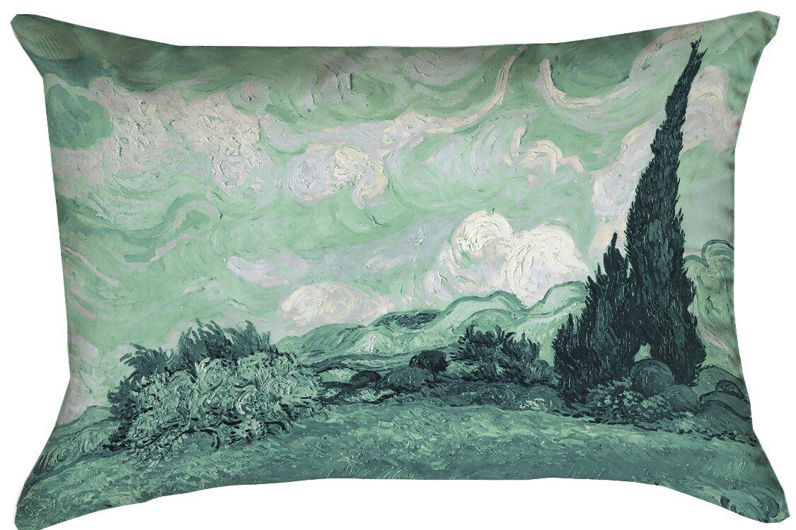 Keating Green Wheatfield Lumbar Pillow Size: 20