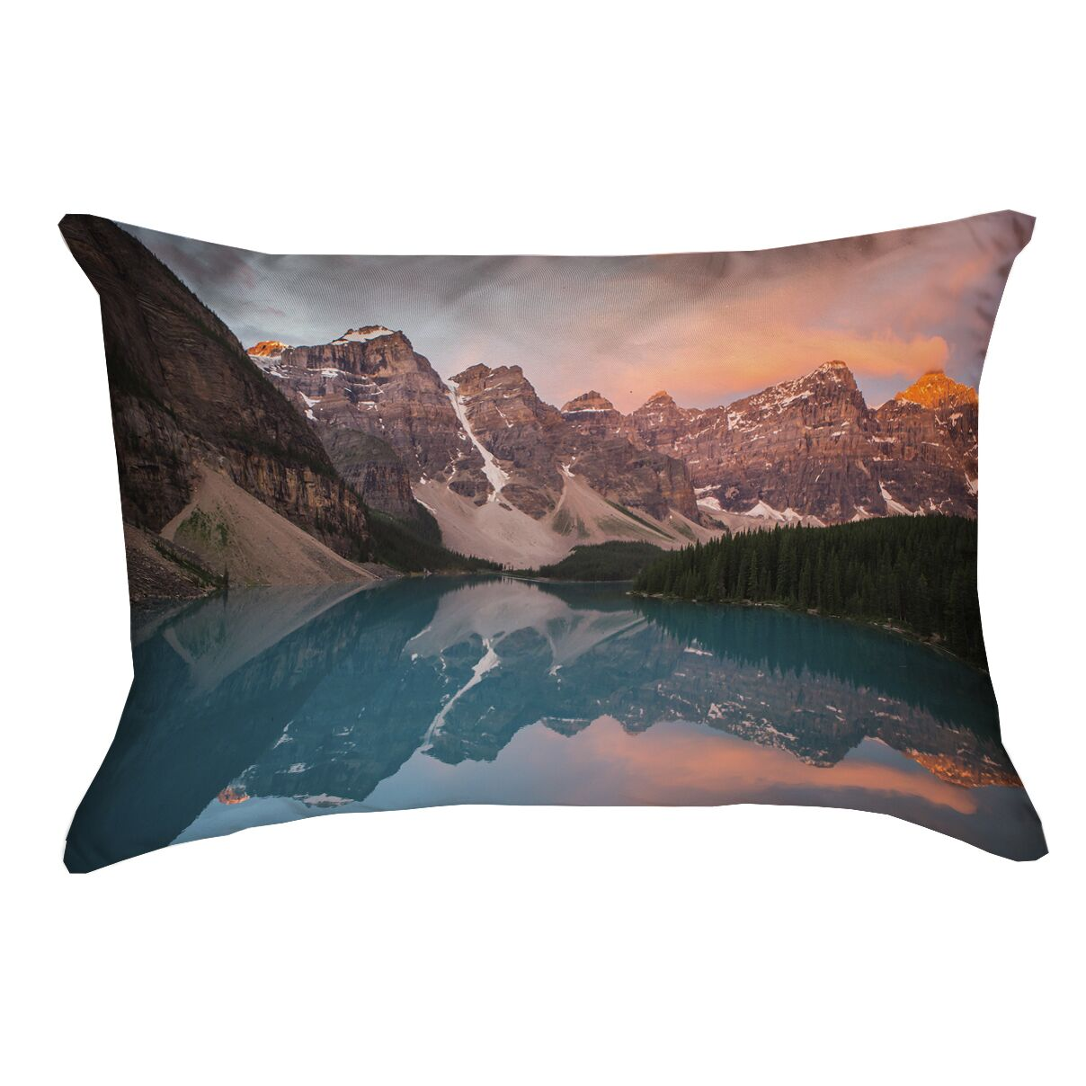 Holyfield Valley and Mountains at Sunset Faux Linen Pillow Cover