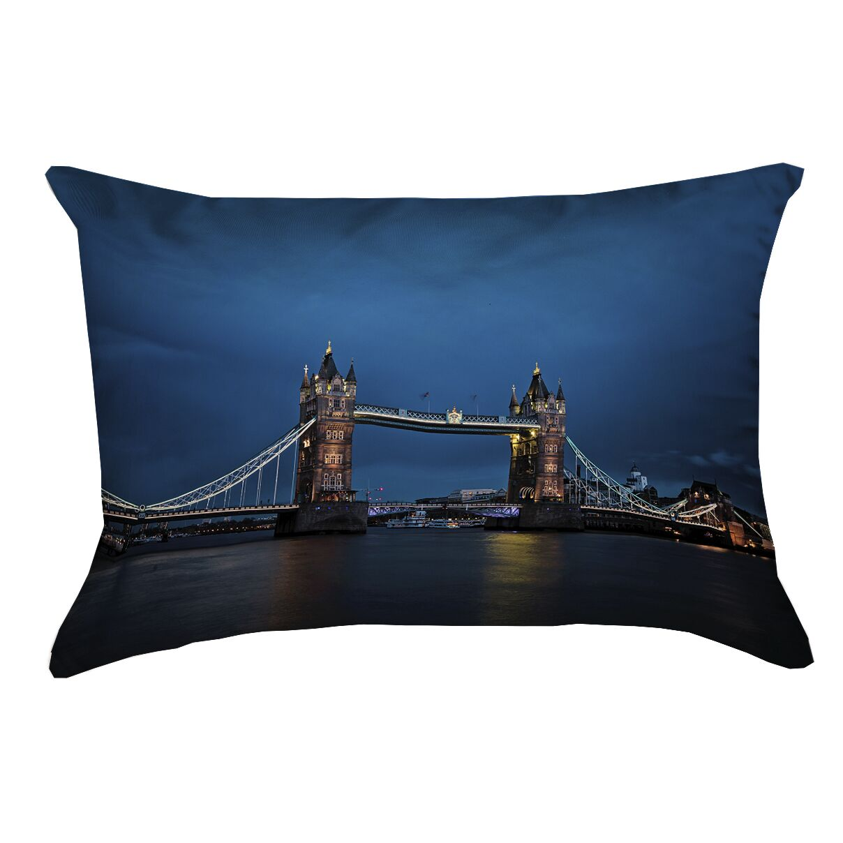 Holter Tower Bridge Lumbar Pillow