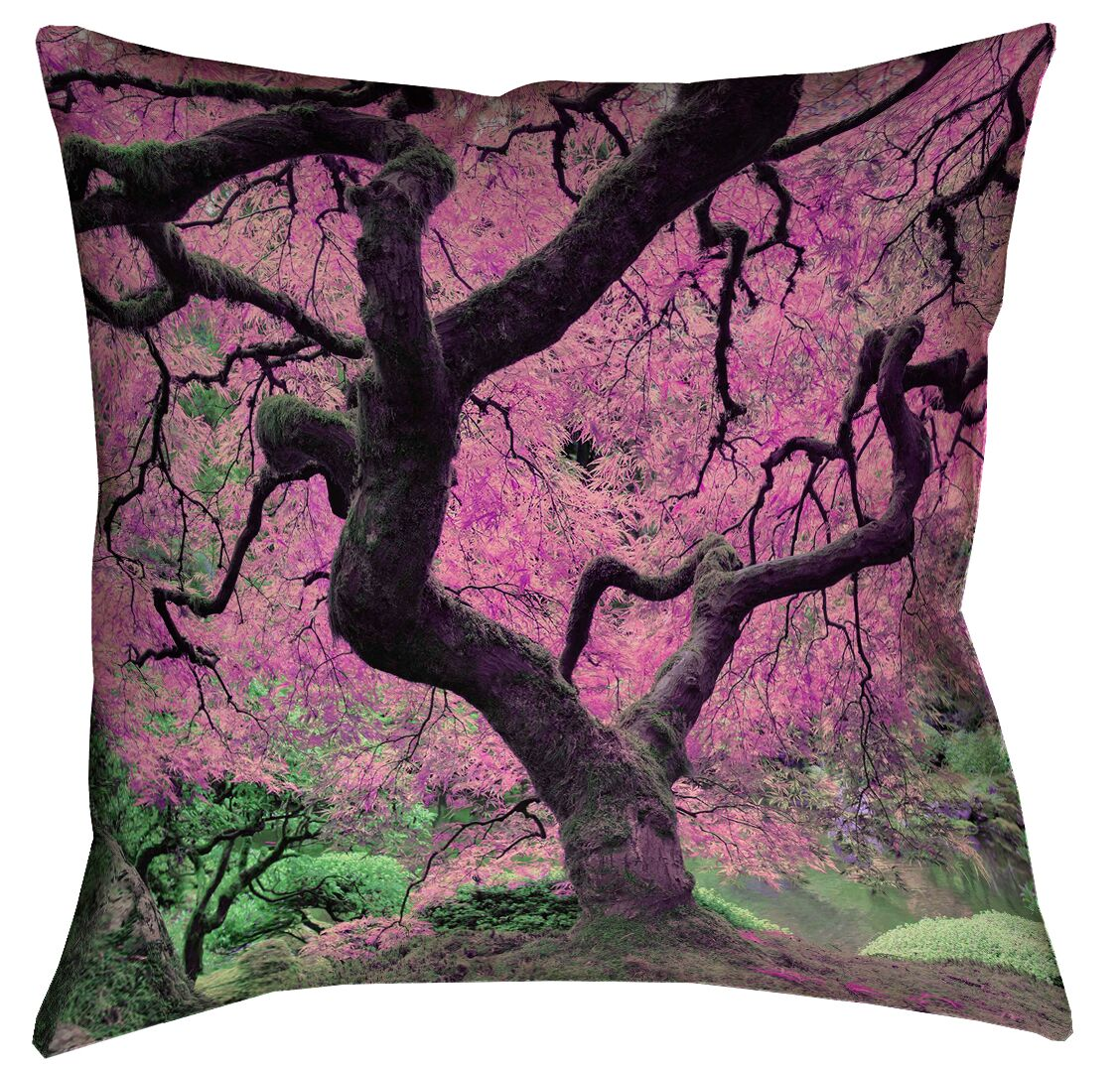 Ghost Train Japanese Maple Tree Floor Pillow Size: 36