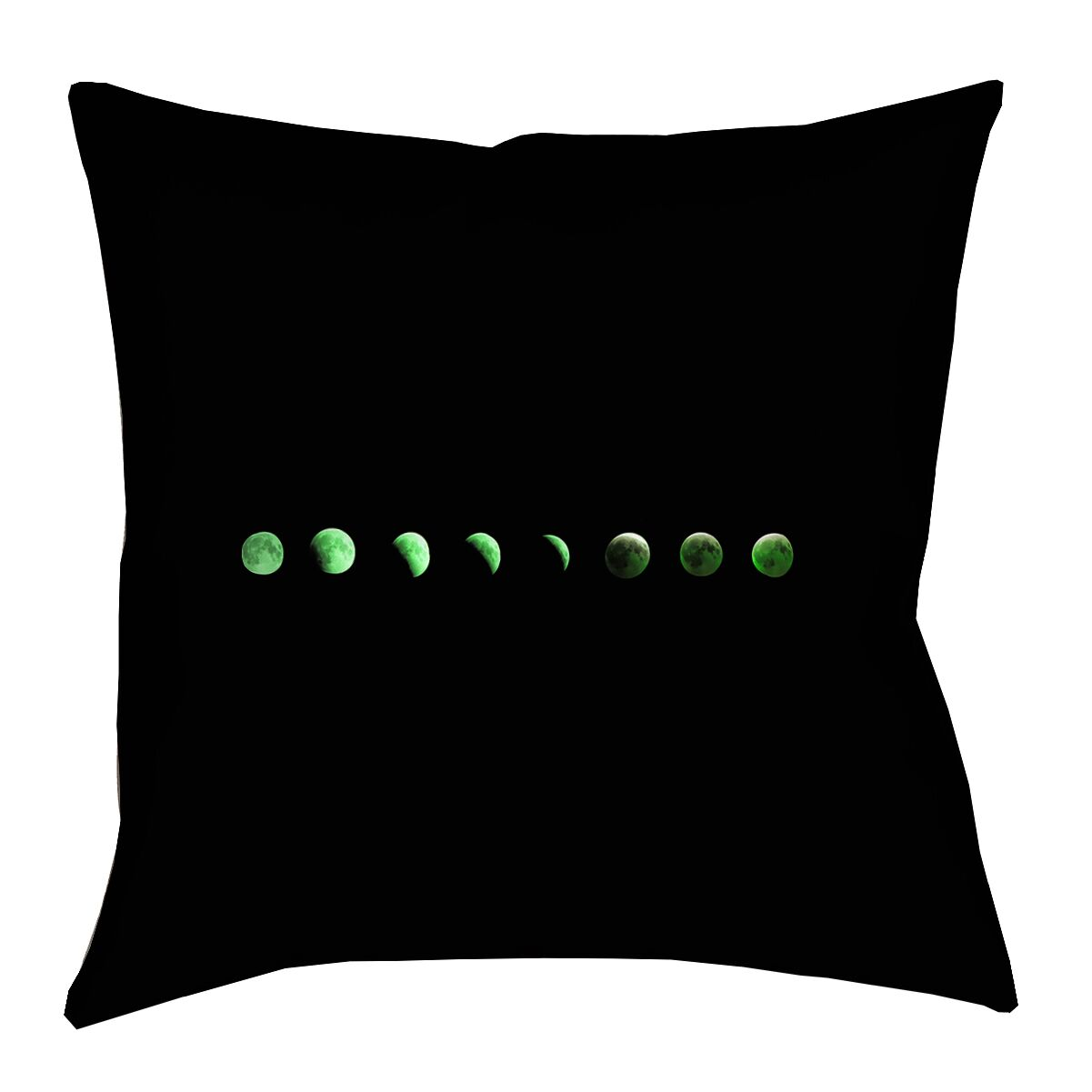 Ziyan Moon Phases Double Sided Print Throw Pillow Size: 40