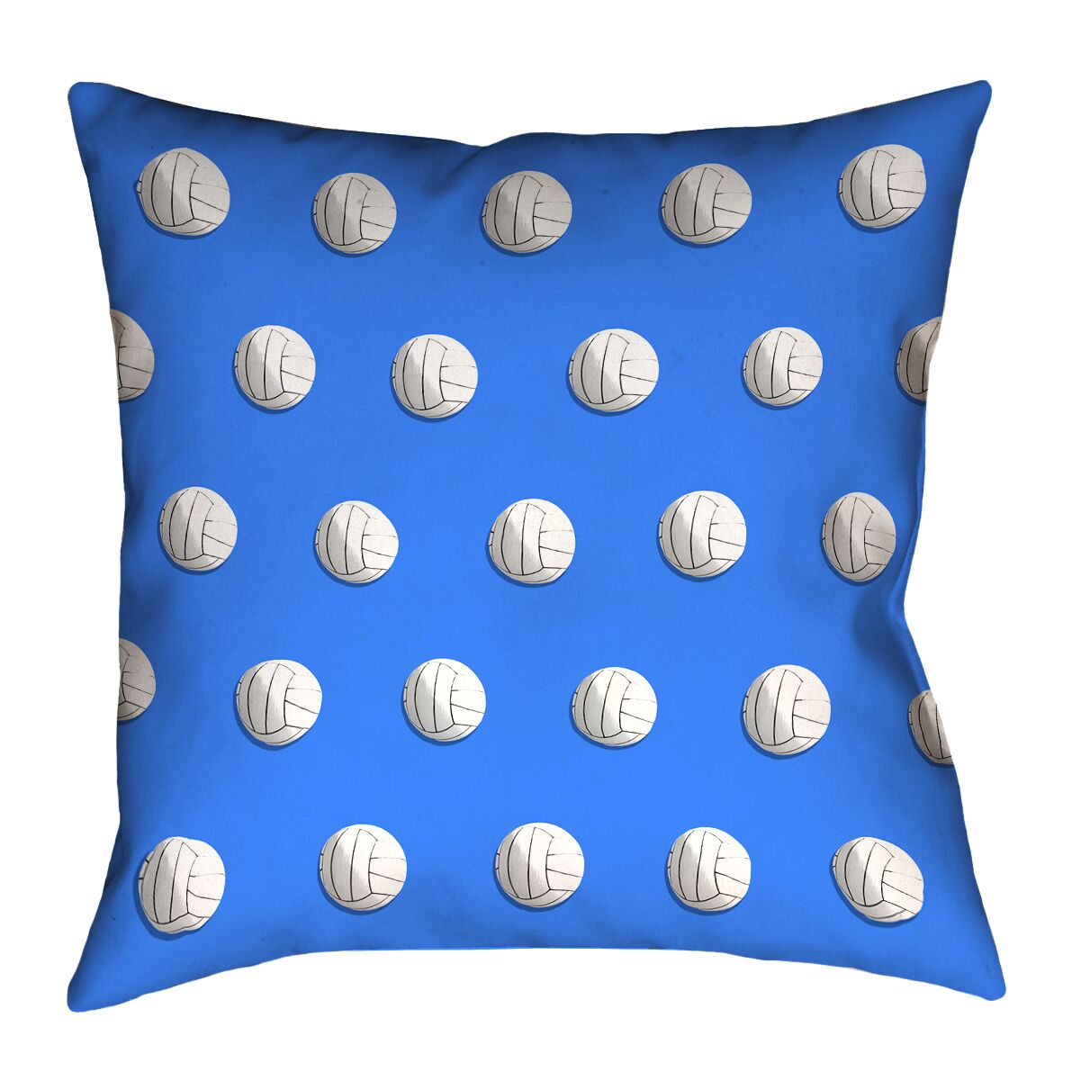 Volleyball Throw Pillow with Concealed Zipper Color: Blue