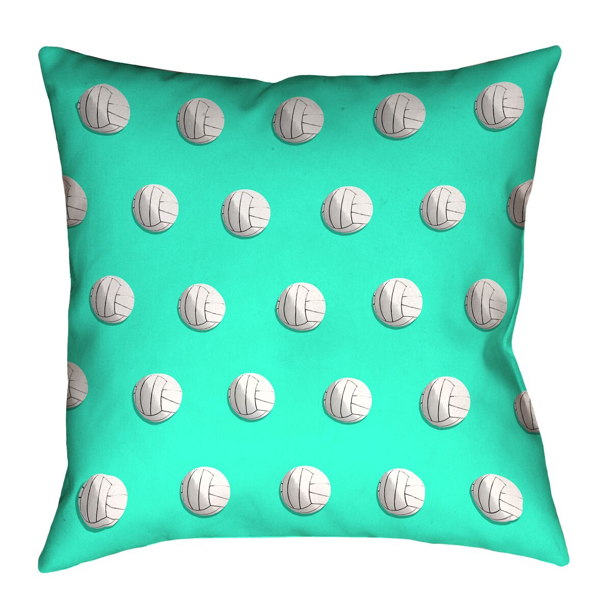 Volleyball Throw Pillow with Concealed Zipper Color: Teal