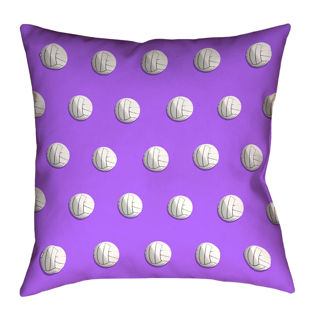 Volleyball Double Sided Print Floor Pillow Size: 28