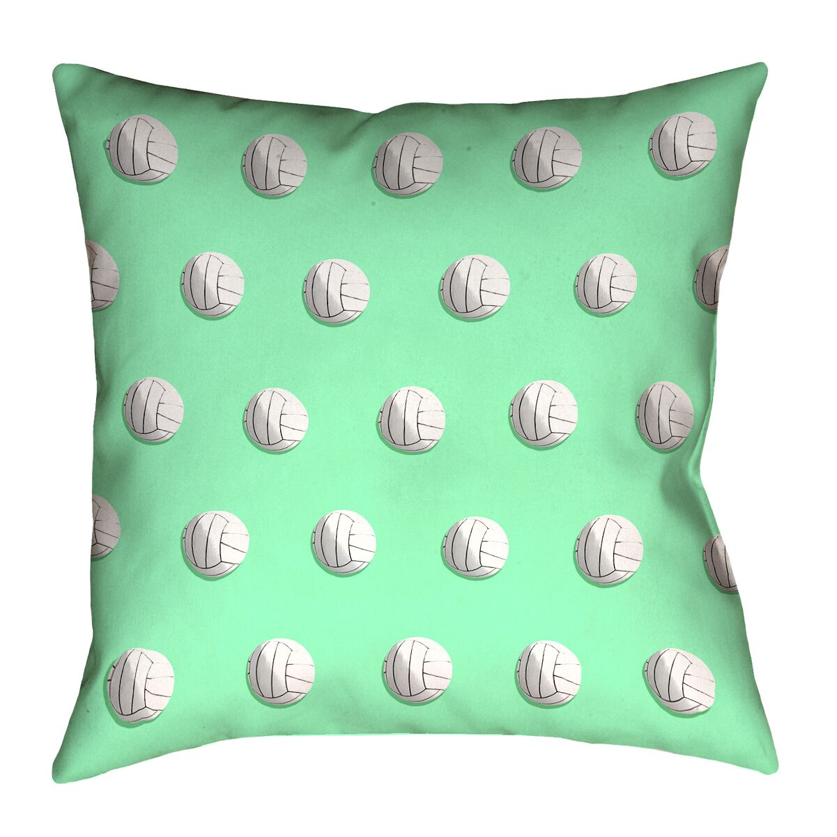 Volleyball 100% Cotton Throw Pillow with Concealed Zipper Color: Green