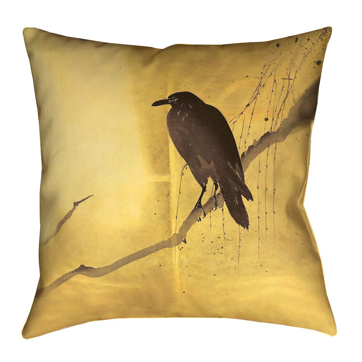 Hansard Crow and Willow Indoor Throw Pillow Size: 18