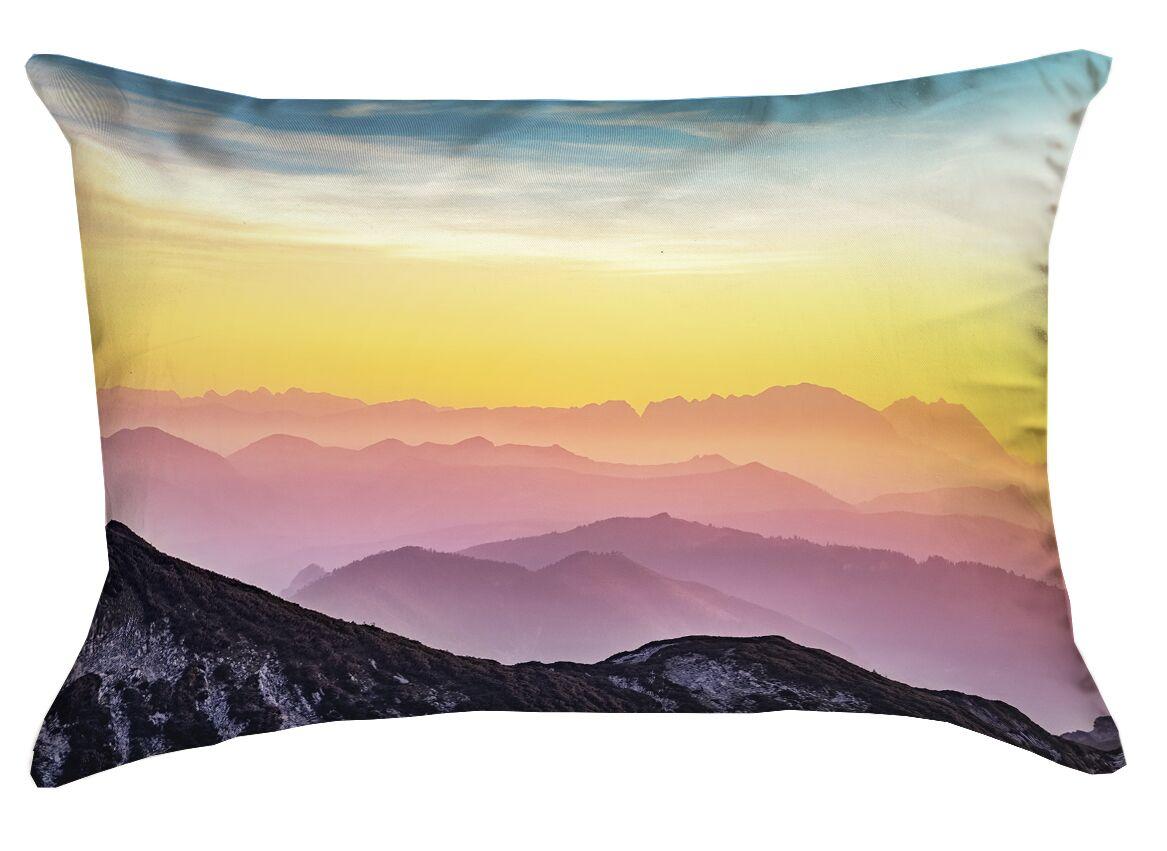 Thang Pastel Landscape Outdoor Lumbar Pillow
