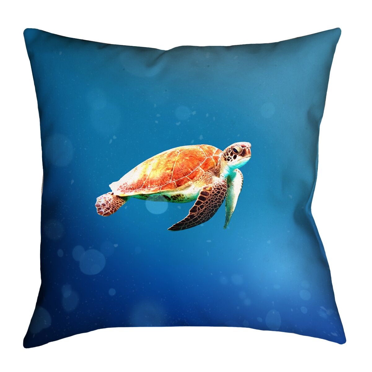 Sea Turtle Indoor Throw Pillow Size: 20