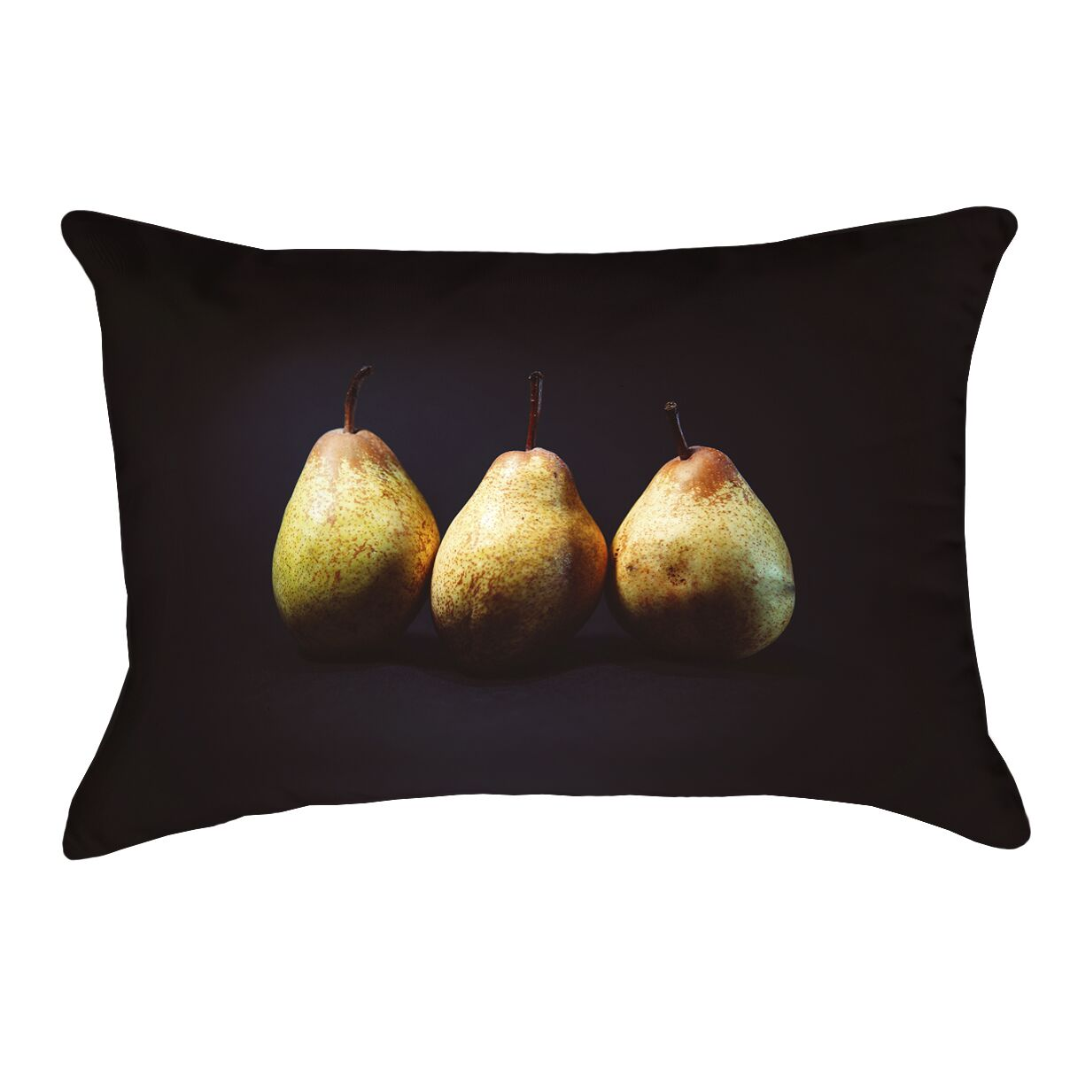Pears 100% Cotton Lumbar Pillow