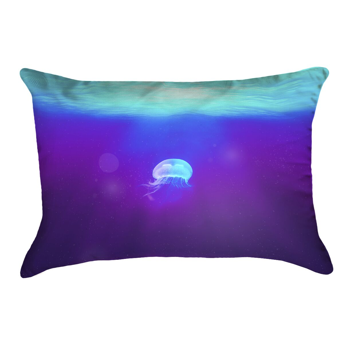 Jellyfish Double Sided Lumbar Pillow Type: Pillow Cover, Material: Polyster Twill