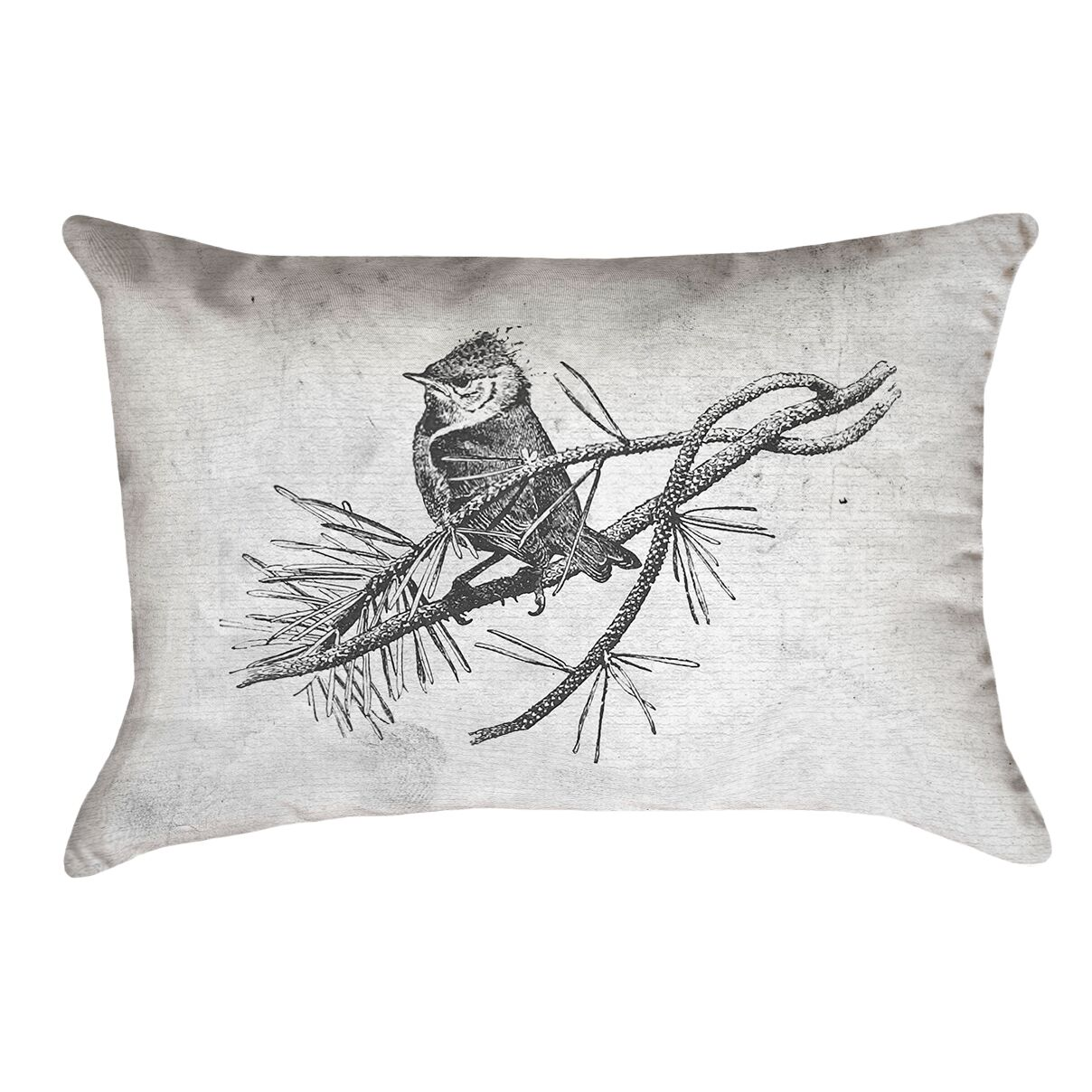 Venezia Vintage Bird Double Sided Lumbar Pillow