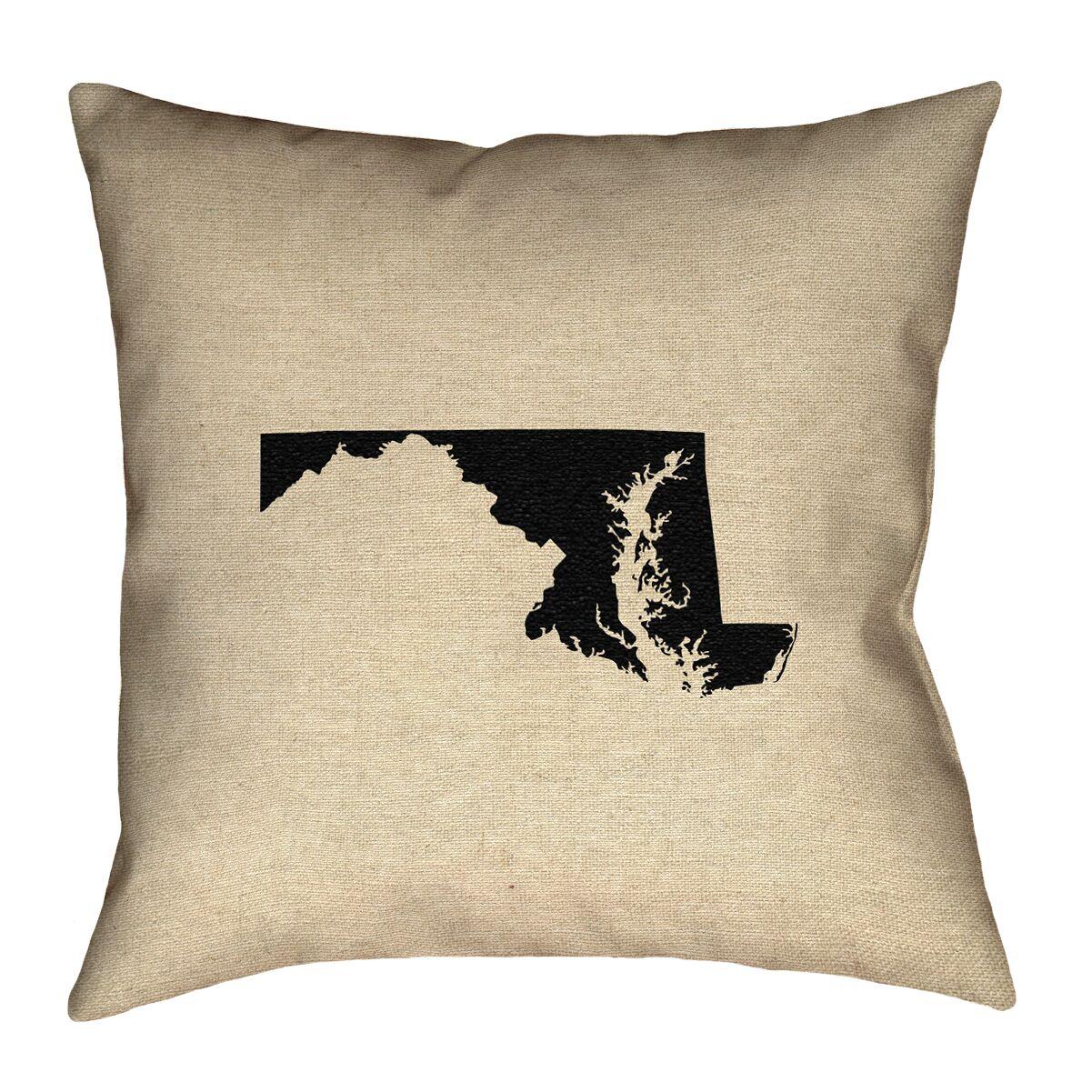 Austrinus Maryland Square Outdoor Throw Pillow Size: 20