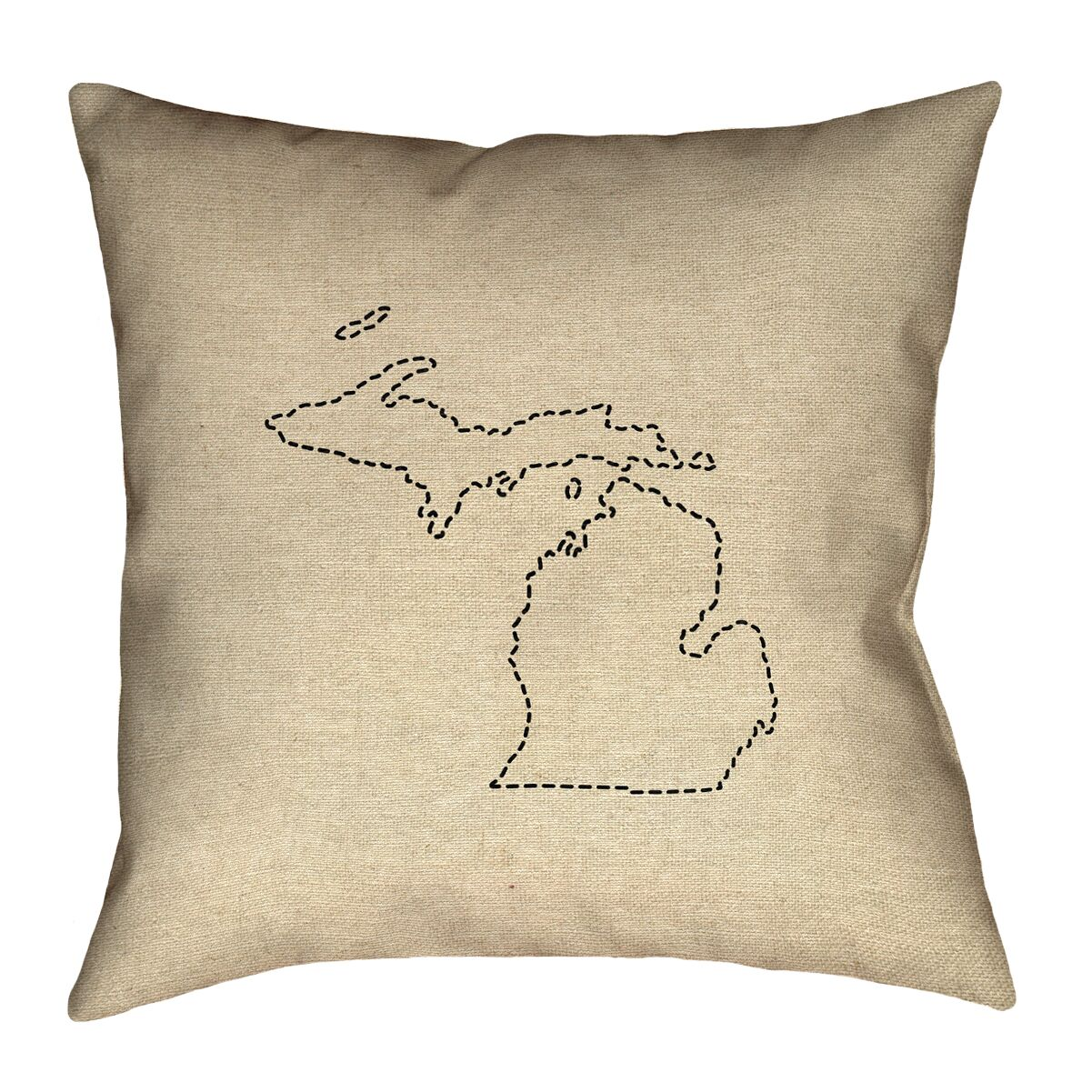Austrinus Michigan Dash Outline Floor Pillow Size: 36