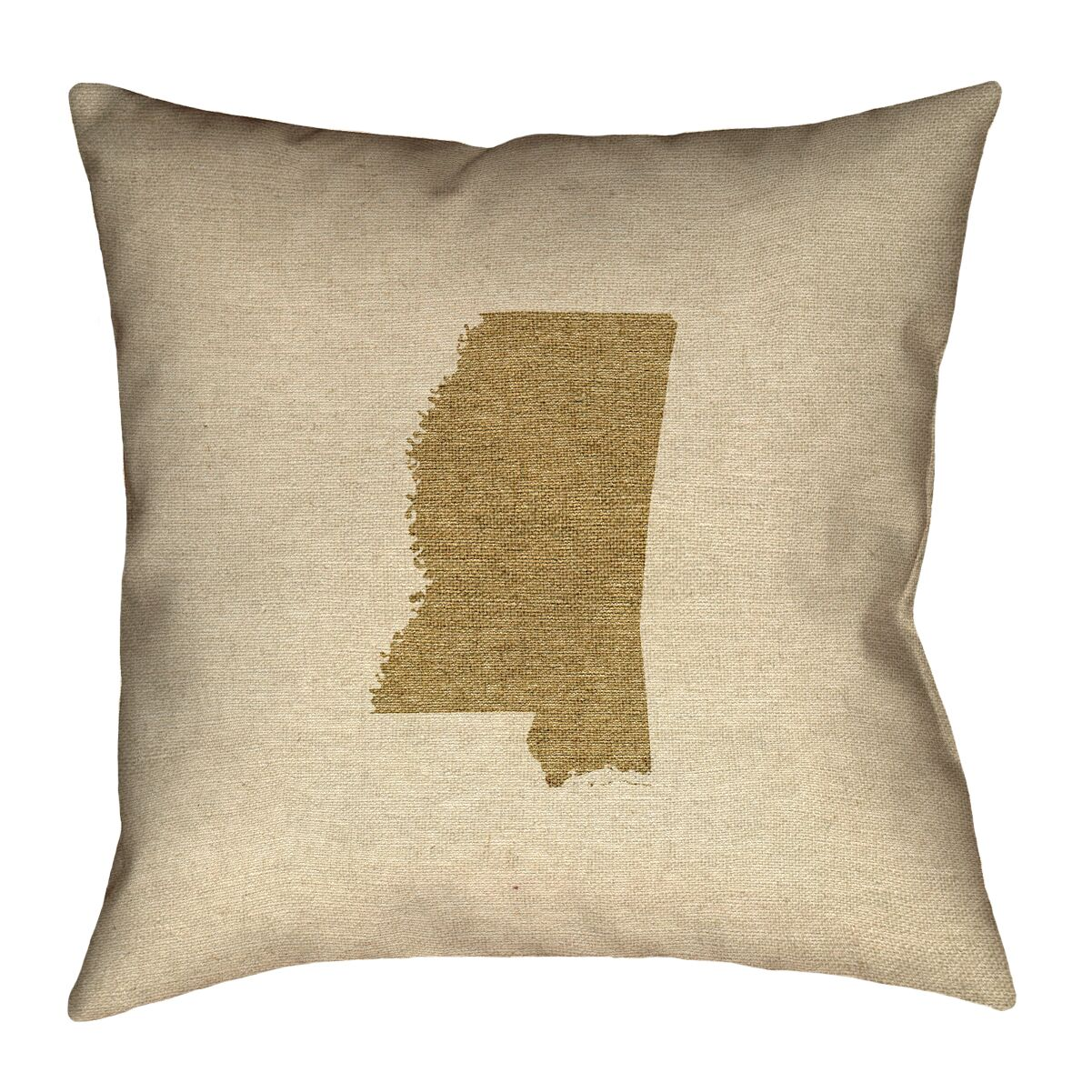 Austrinus Mississippi Canvas Throw Pillow Size: 18