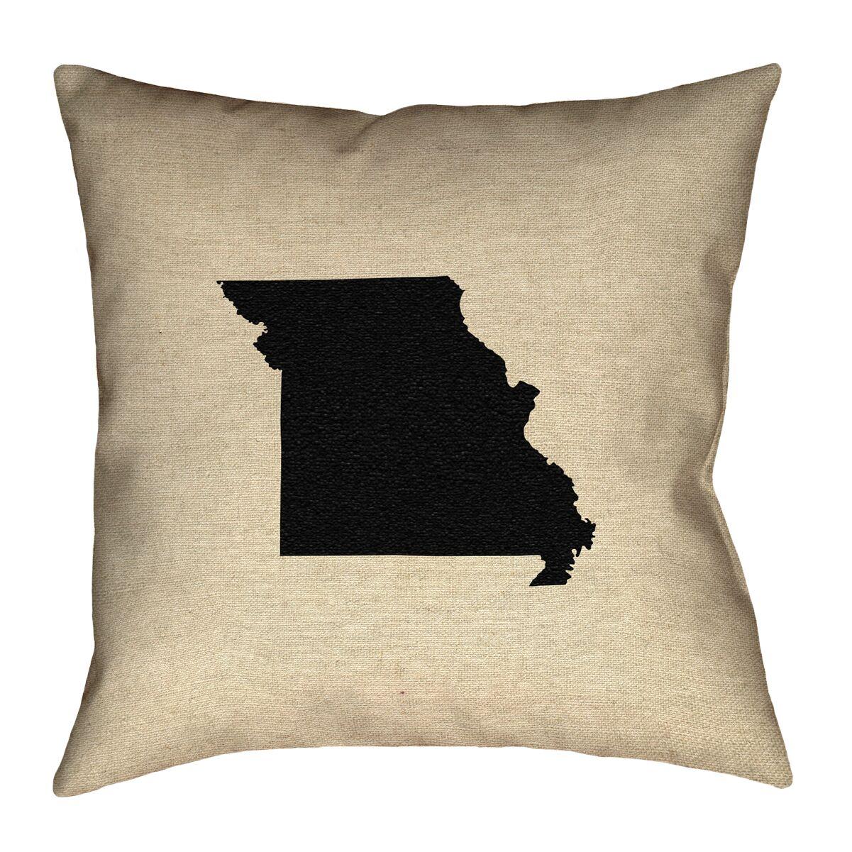 Austrinus Missouri Double Sided Print Floor Pillow Size: 36